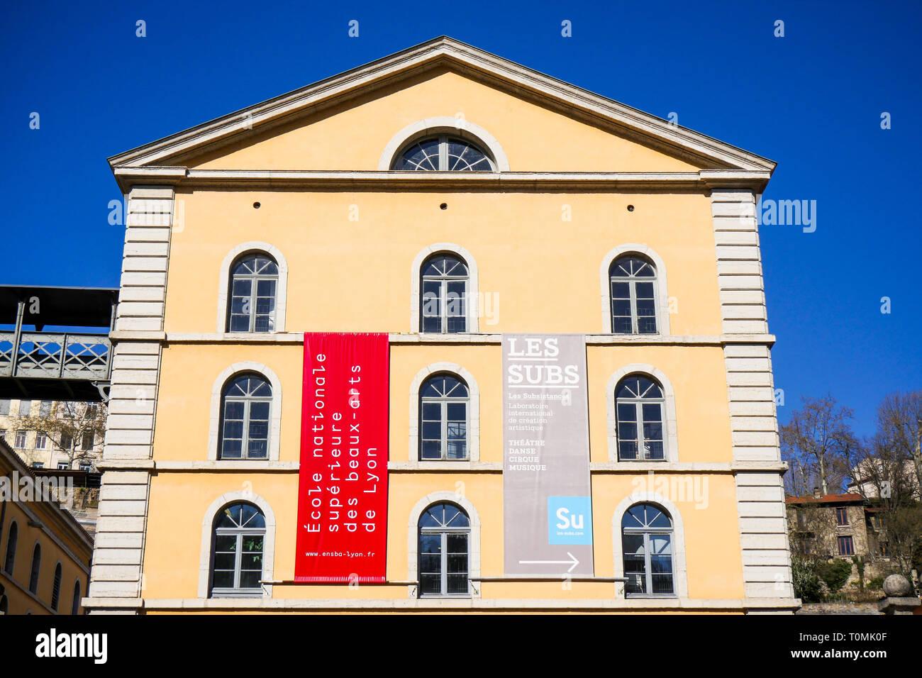 Les Subsistances Cultural Center, Lyon, France Stock Photo