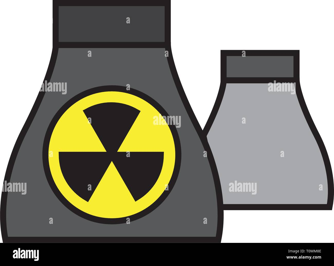 factory, nuclear icon - Stock Vector
