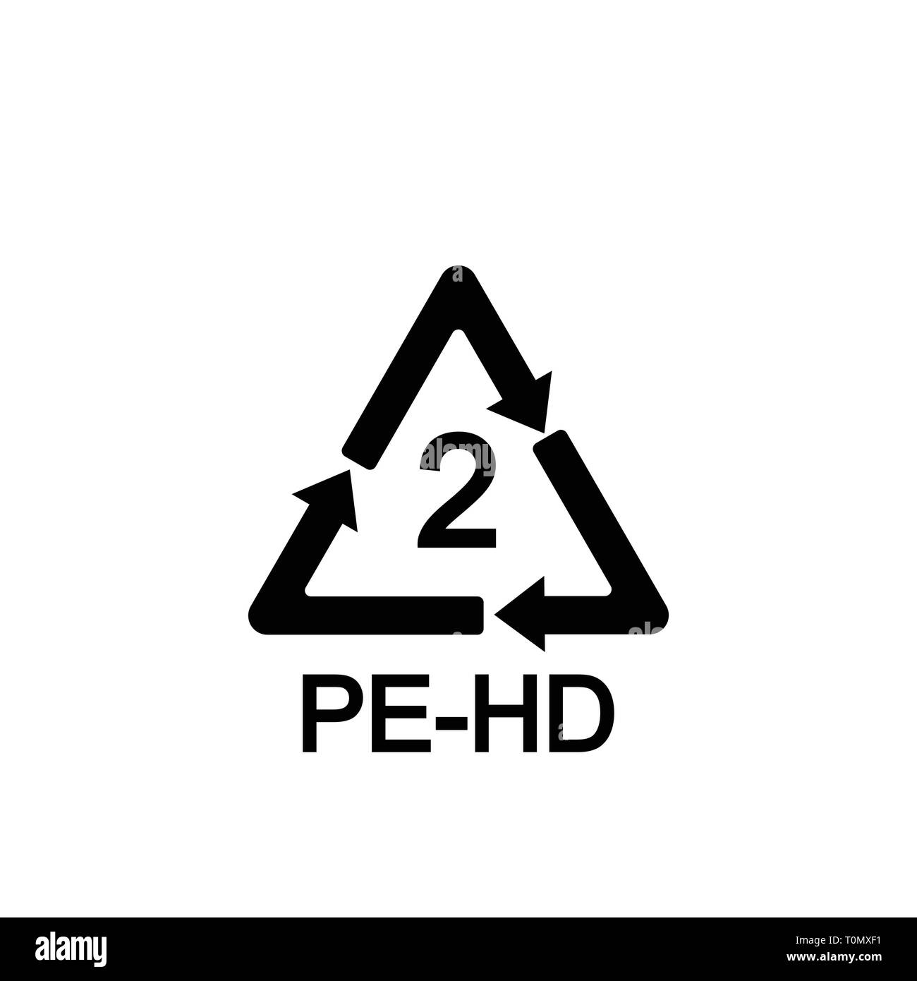Recyclable plastic. Polyethylene Vector illustration Flat - Stock Image