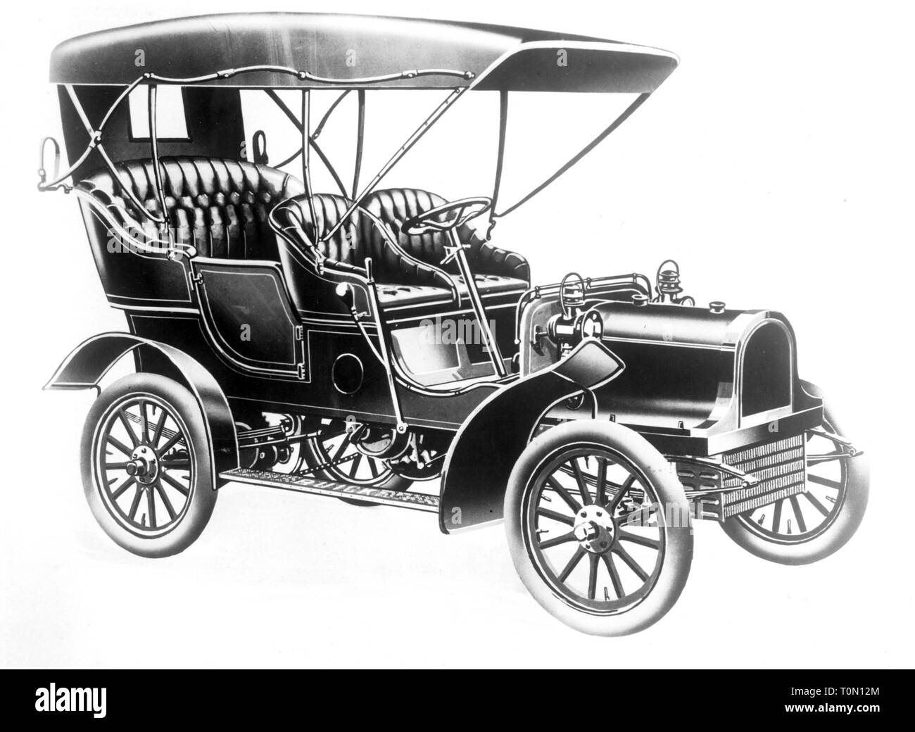 transport / transportation, car, vehicle variants, Buick model C, year of construction: 1905, Additional-Rights-Clearance-Info-Not-Available - Stock Image