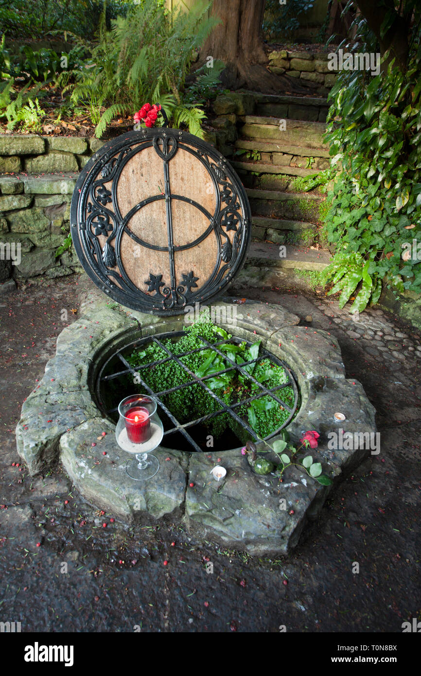 Great Britain, England, Glastonbury. The famous Chalice Well. - Stock Image