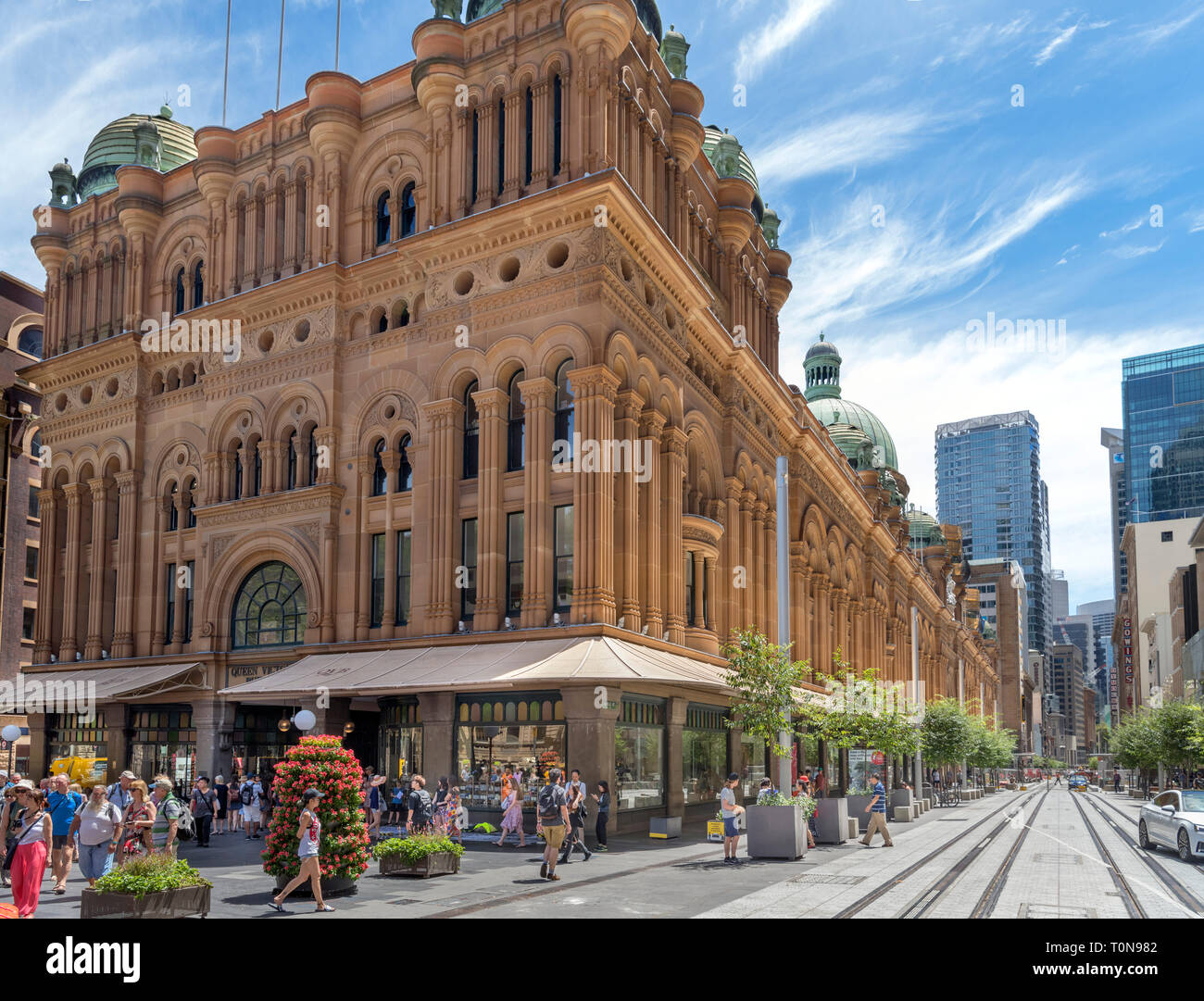 The Queen Victoria Building (QVB) shopping arcade, Central Business District, Sydney, Australia - Stock Image
