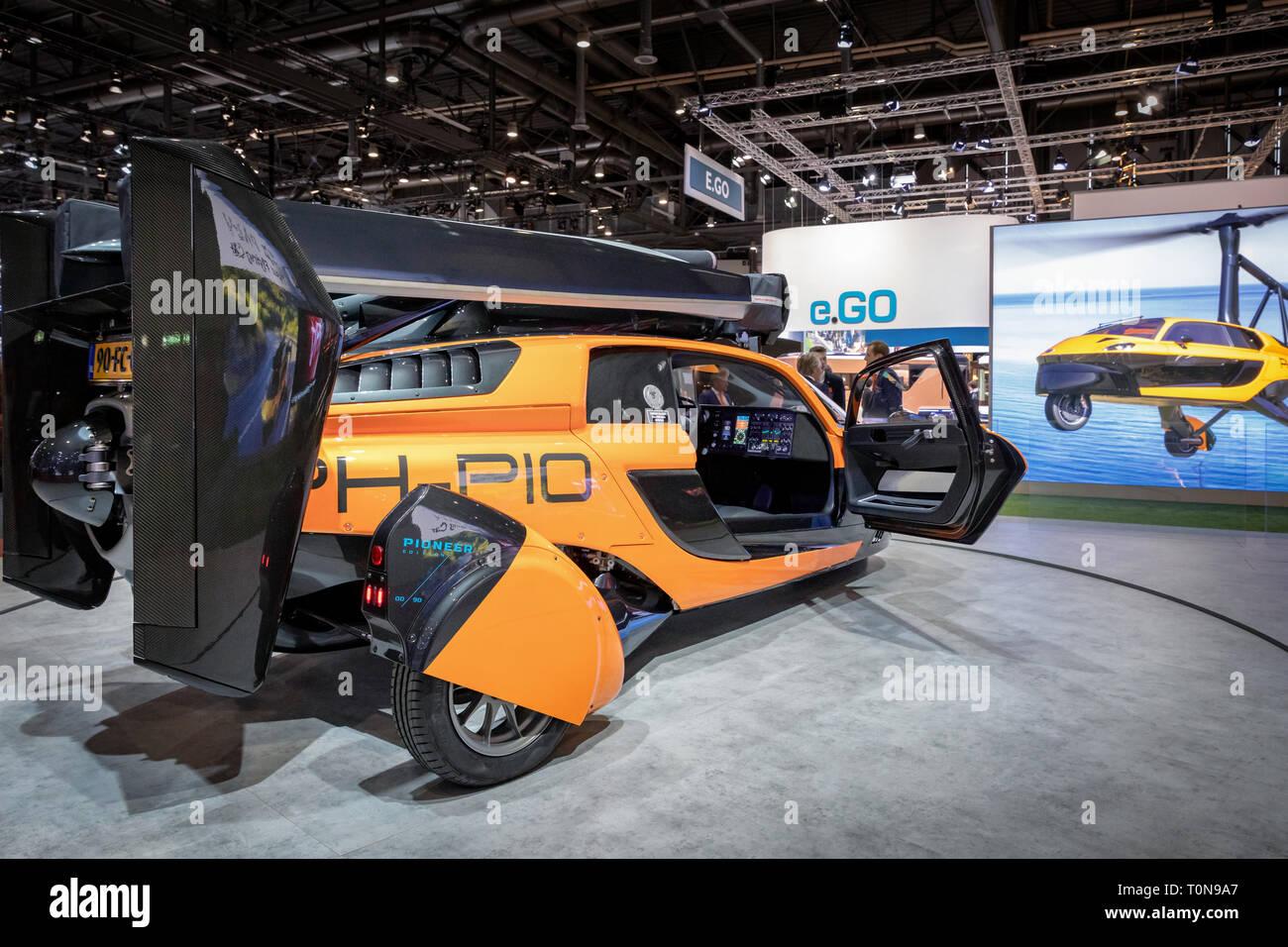 Flying Car, PAL-V, Geneva International Motor Show, Geneva, Switzerland - Stock Image