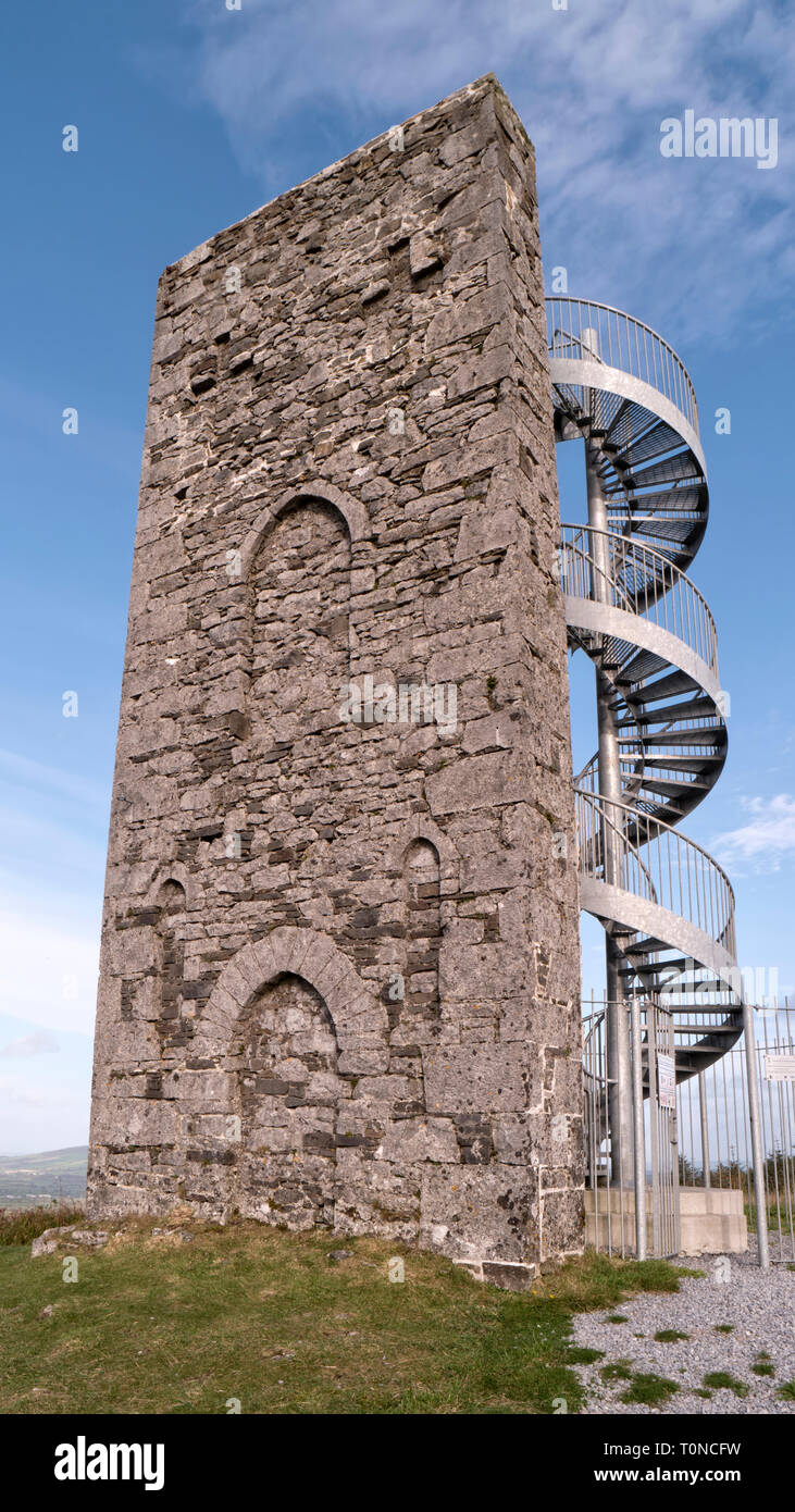 Wellington Tower on Grange Crag in Co.Tipperary built to commemorate the victory of the Duke of Wellington over Bonaparte in Waterloo. - Stock Image