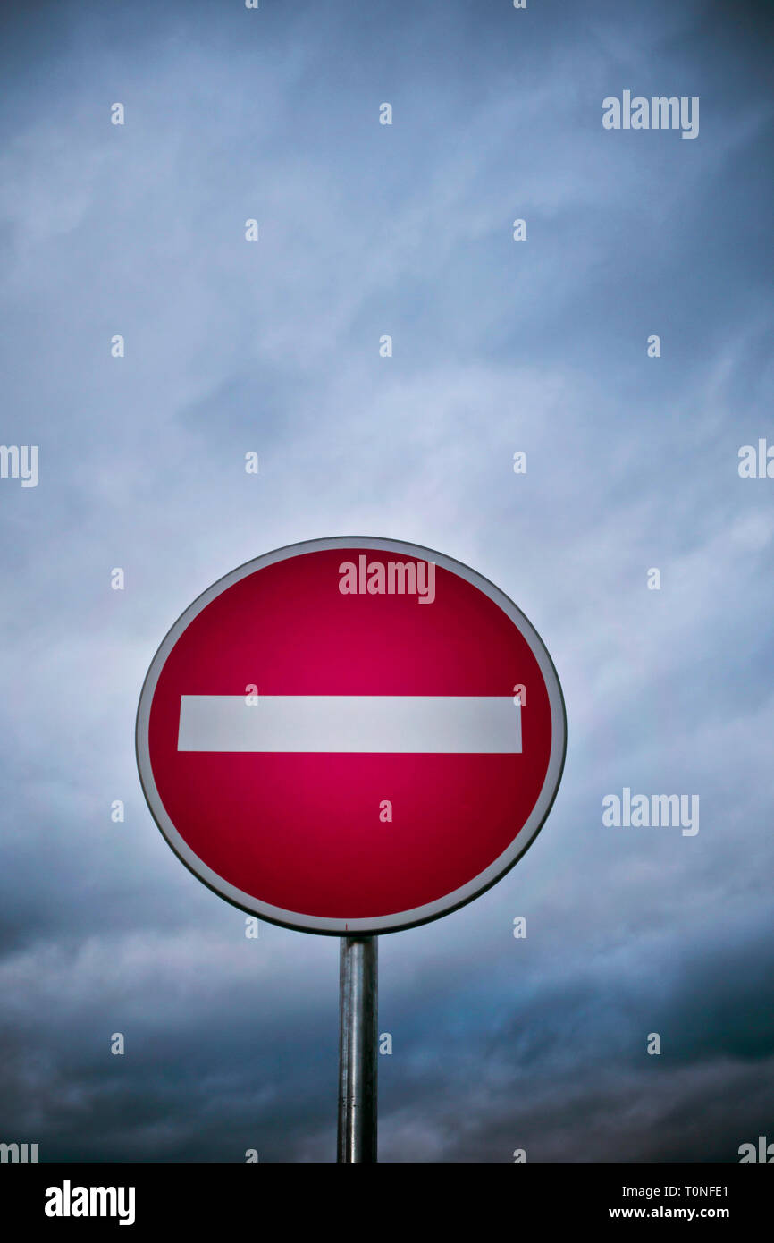 no entry street sign Stock Photo