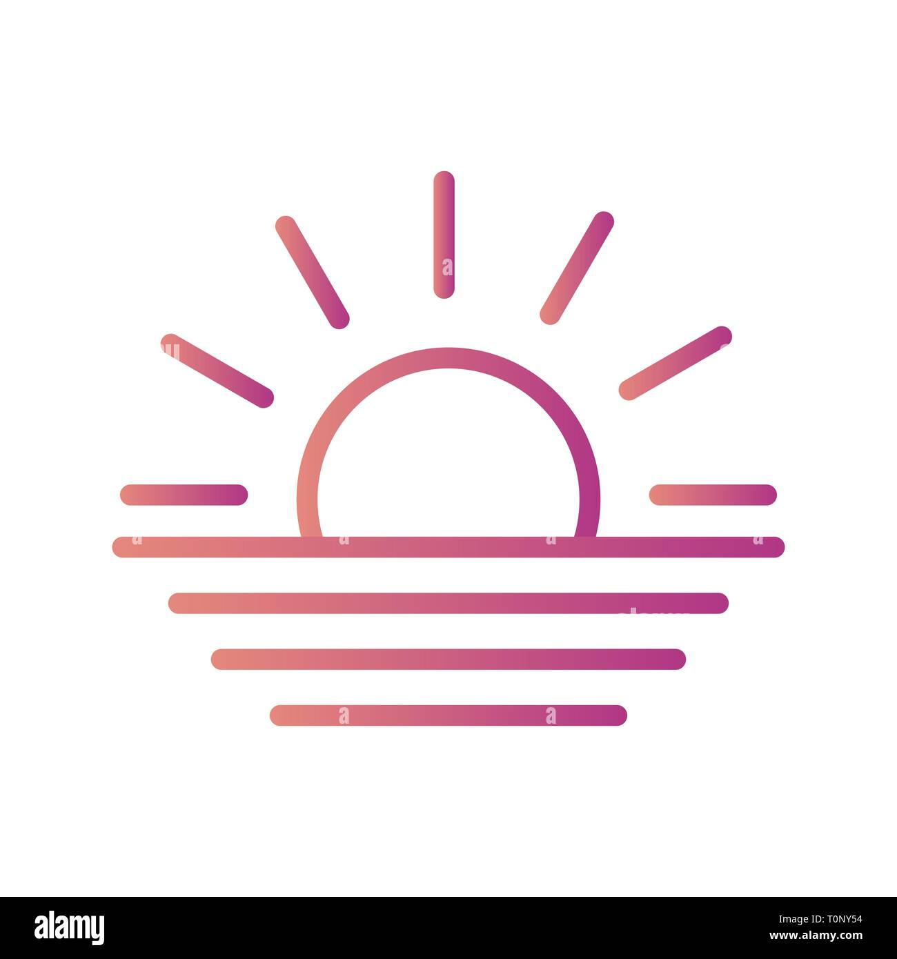 illustration sunset icon stock photo alamy alamy