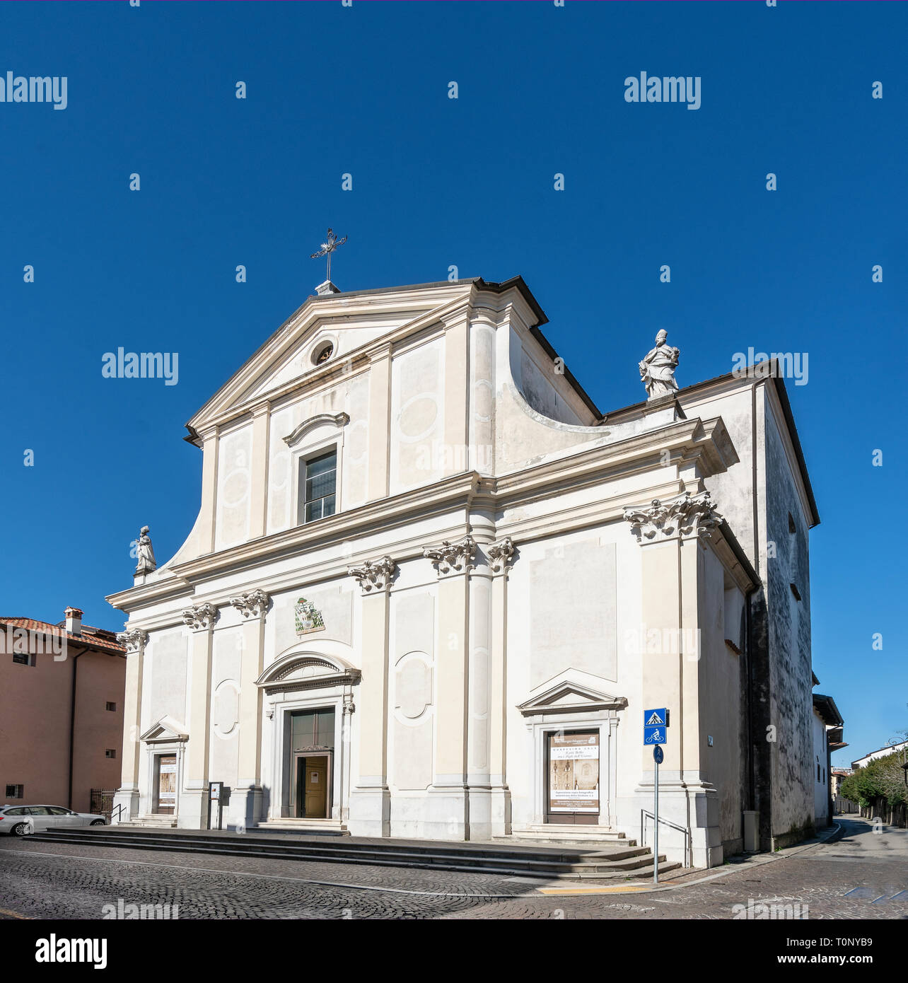 Facade Of A Small Church Stock Photos & Facade Of A Small