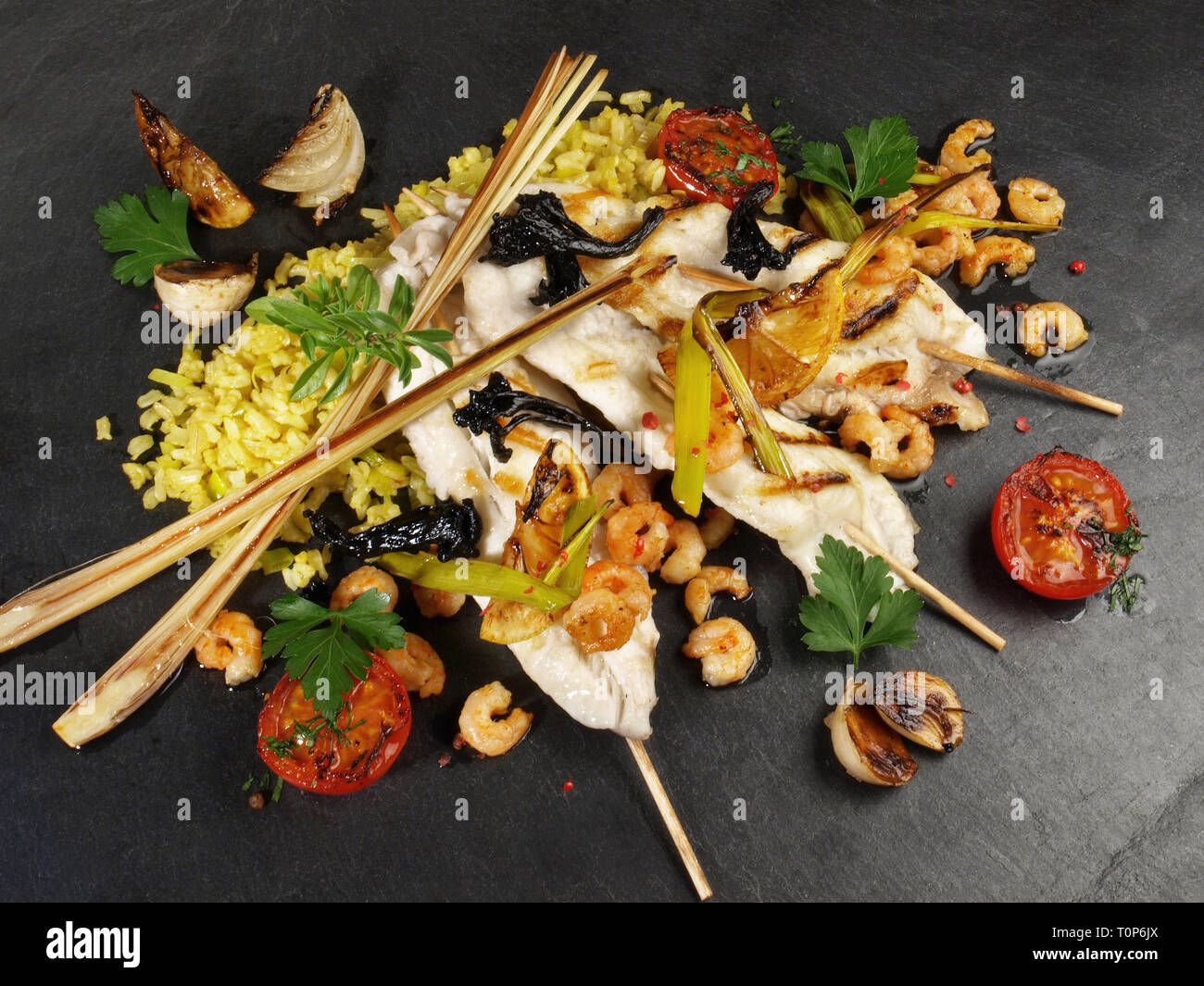 Sole - Flatfish Asian Style - Stock Image