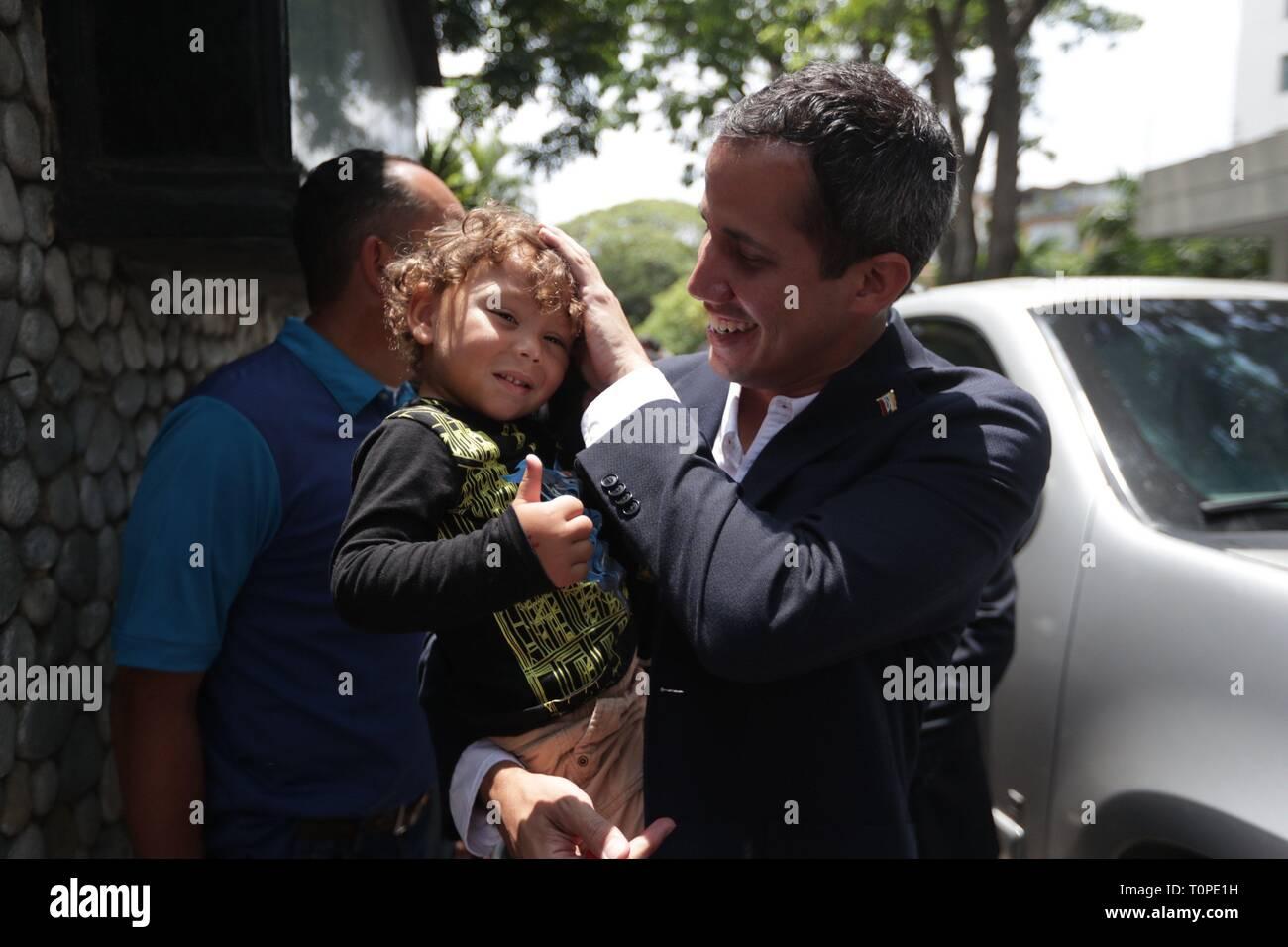 Caracas, Venezuela  21st Mar, 2019  Opposition leader Juan Guaido