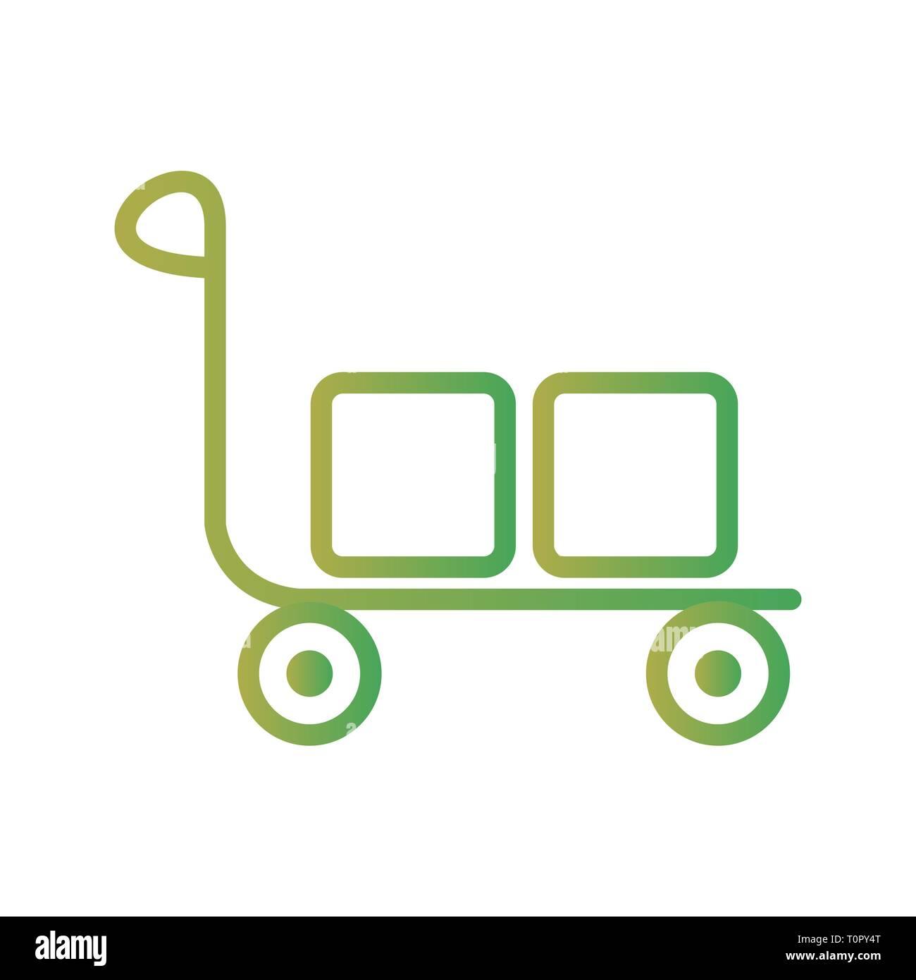 Illustration Trolley Icon - Stock Image