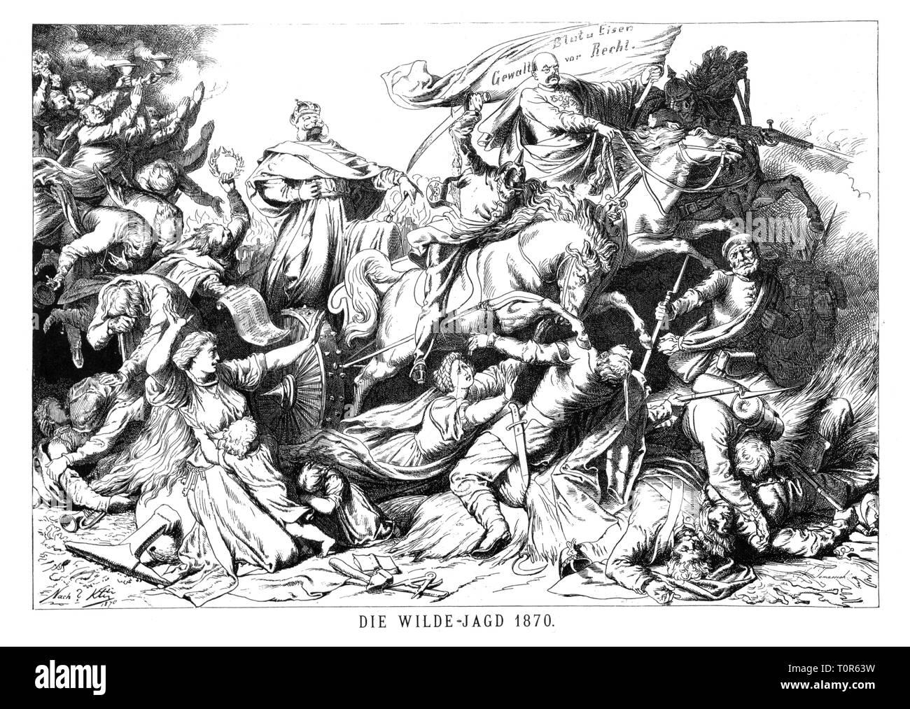 Franco Prussian War 1870 1871 Caricature Otto Von Bismarck