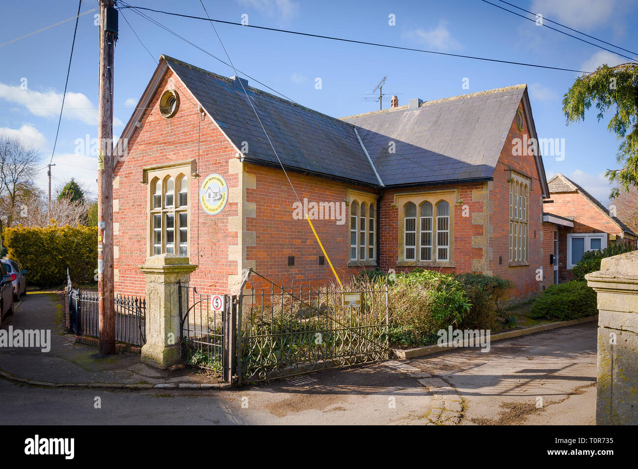 The Maud Heath Centre  - home of Girl Guiding Wiltshire North in England UK - a former villaage school building - Stock Image