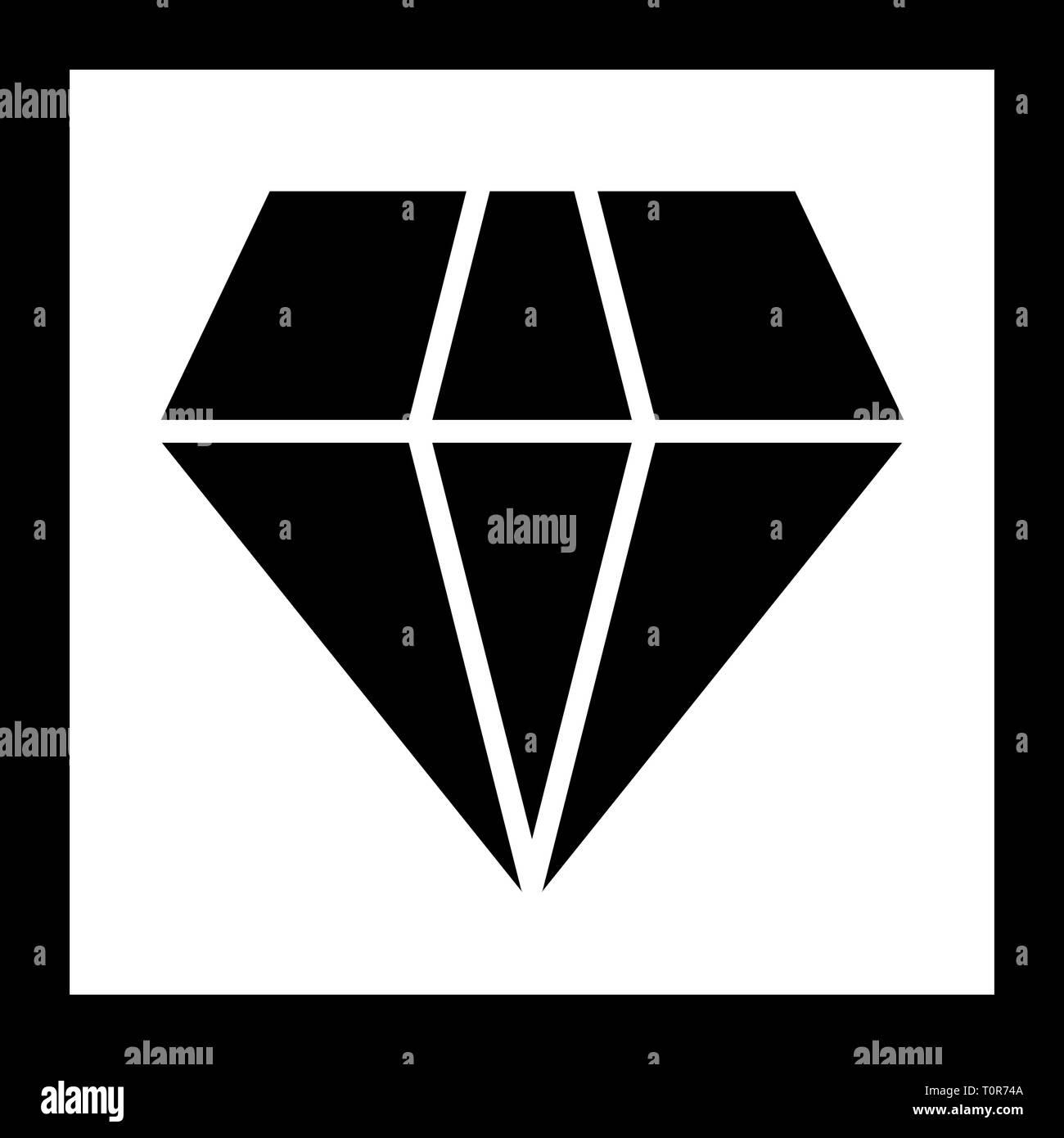 Illustration Diamond Icon - Stock Image