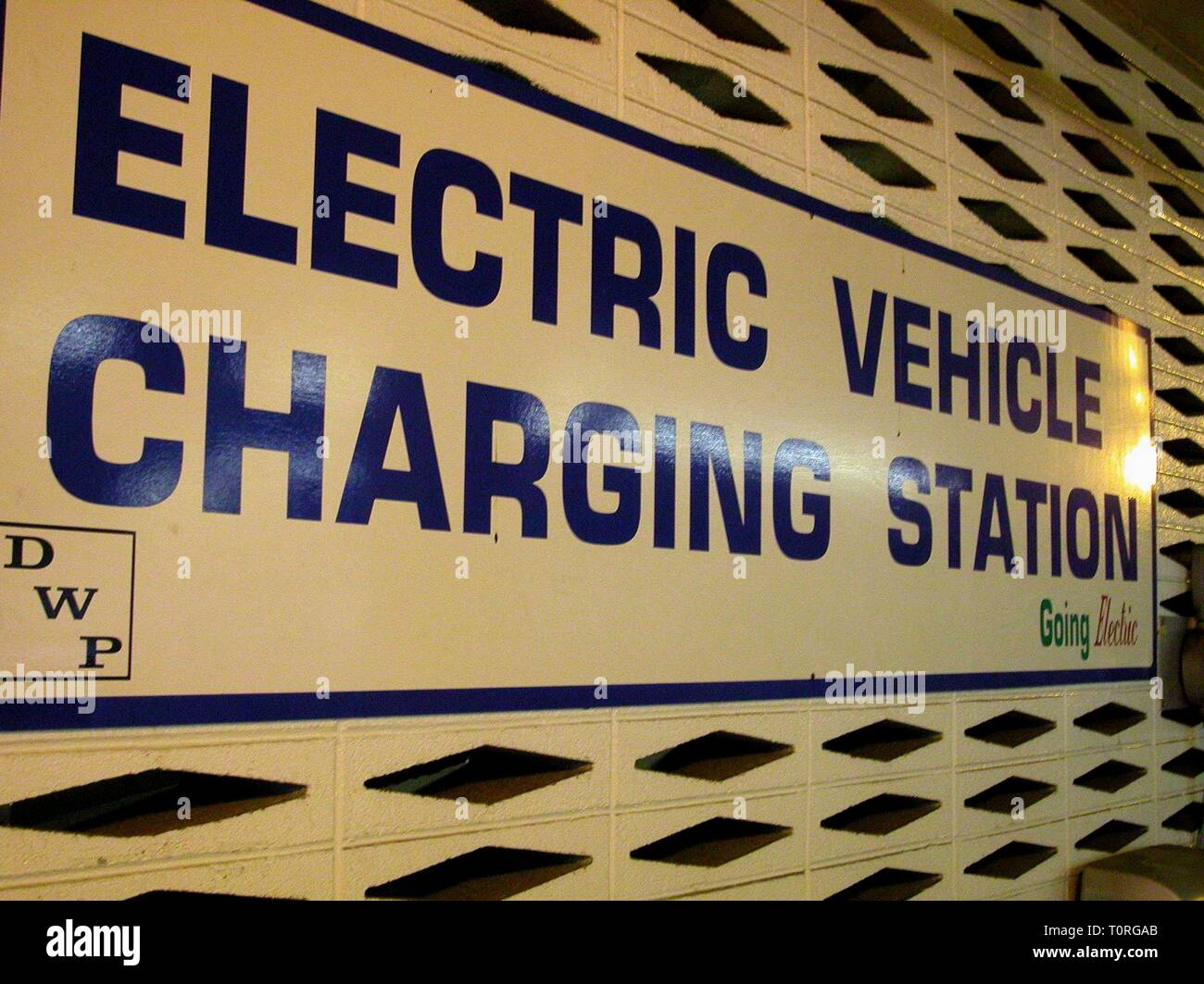 ELECTRIC VEHICLE CHARGING STATION, WHO KILLED THE ELECTRIC CAR?, 2006 - Stock Image