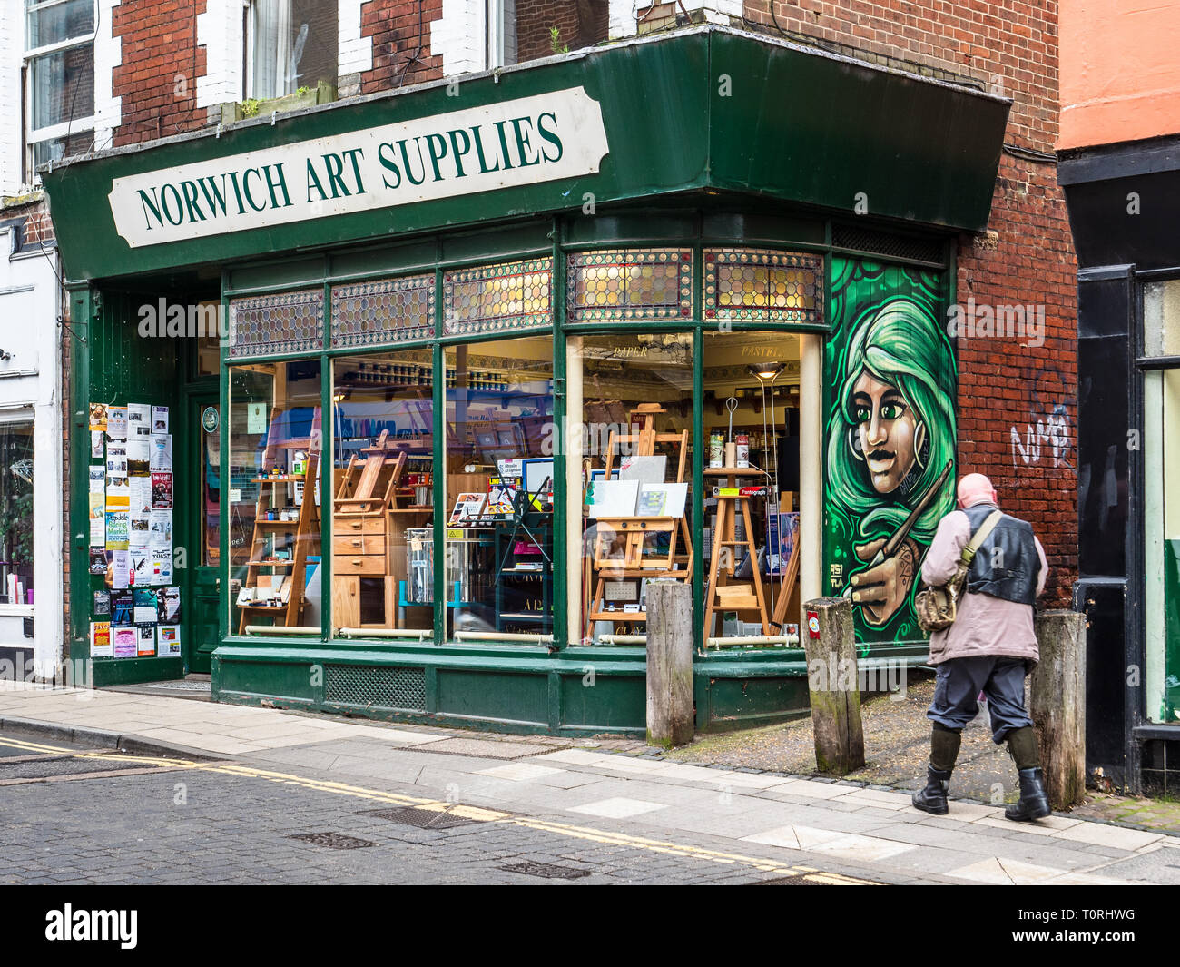 Norwich Art Supplies Shop in central Norwich UK - Stock Image