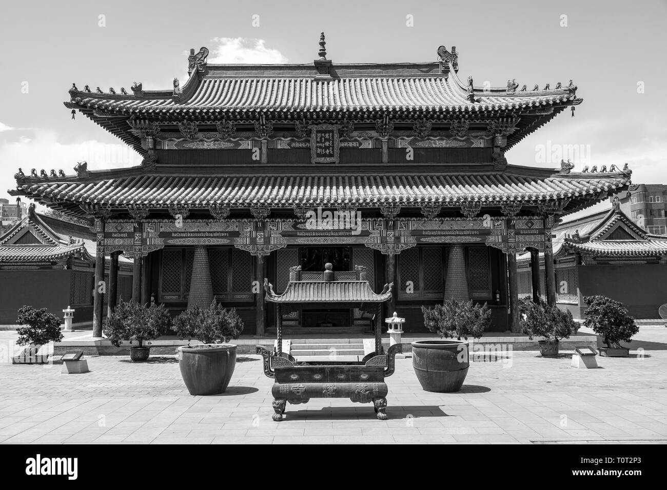 From Five Pagoda temple area in Hohhot, capital of Inner Mongolia, China. - Stock Image