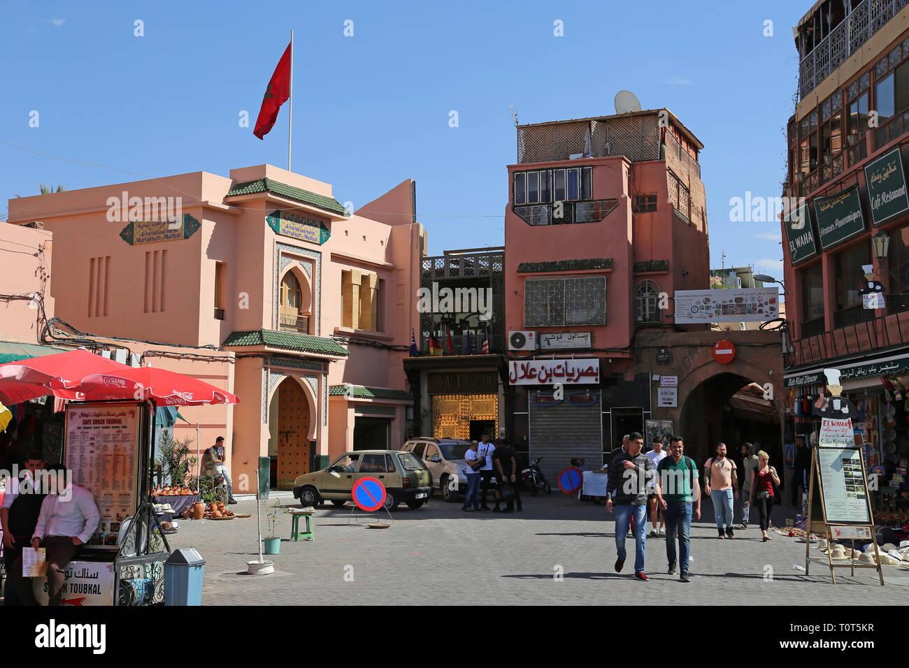 Jemaa el Fna, Medina, Marrakesh, Marrakesh-Safi region, Morocco, north Africa Stock Photo