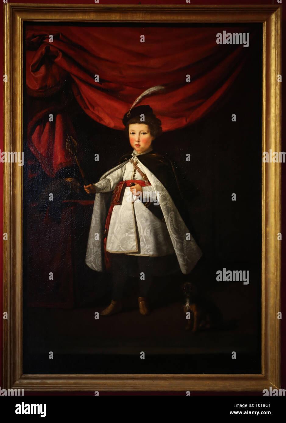 Giusto suttermans, ritratto di leopoldo de' medici fanciullo, 1622 - Stock Image