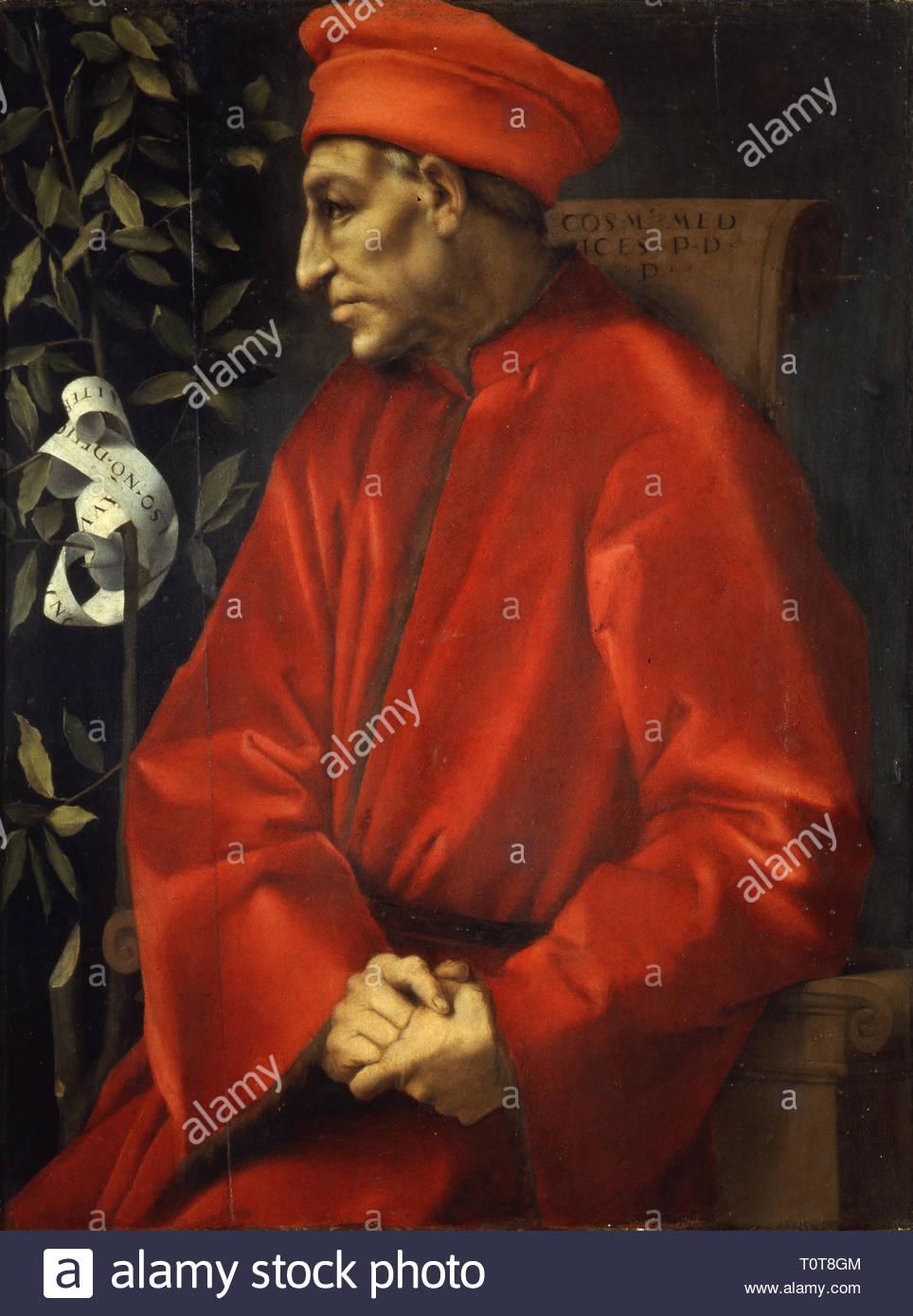 Pontormo - Ritratto di Cosimo il Vecchio - Stock Image