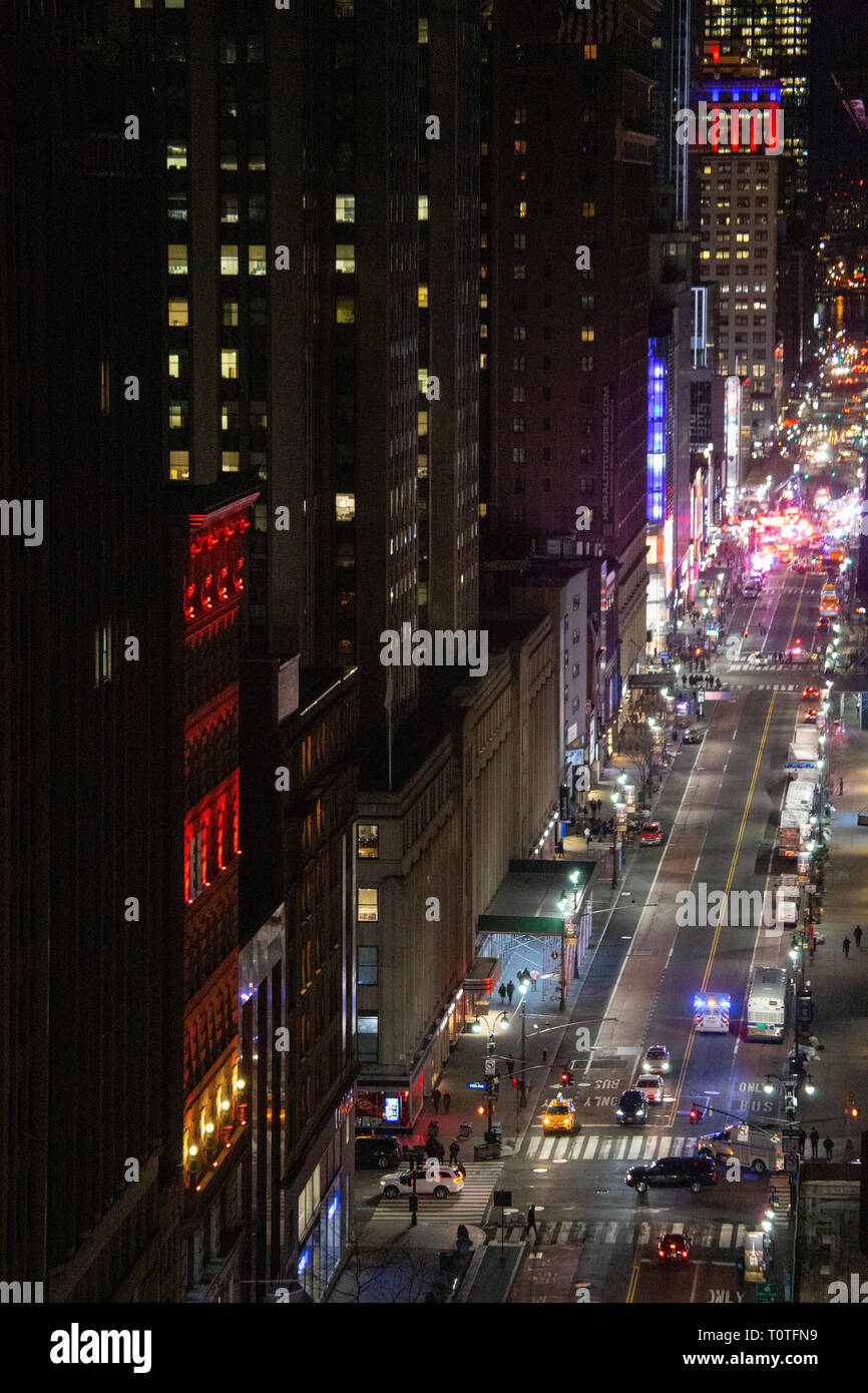 Police at Accident Scene, 34th St and Fifth Ave, NYC Stock Photo