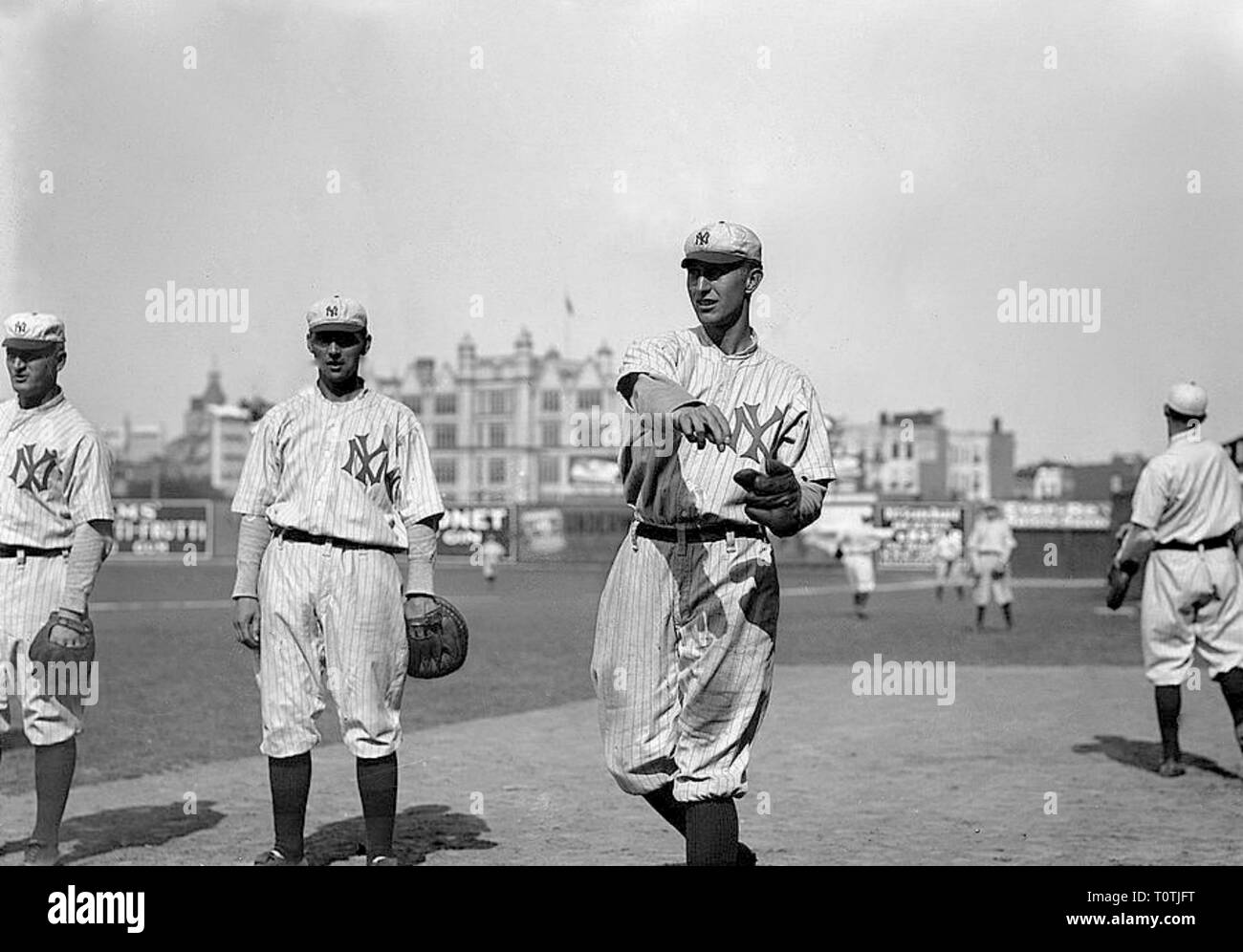 Bill Stumpf, New York Highlanders, at Hilltop Park, New York 1912. Stock Photo