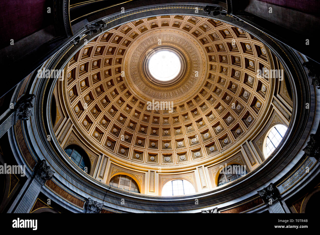 Ceilings of the Vatican Museum Rome Stock Photo
