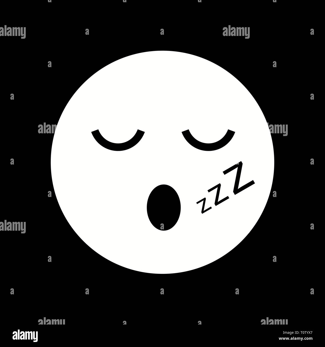 Illustration Sleep Emoji Icon Stock Photo: 241493903 - Alamy