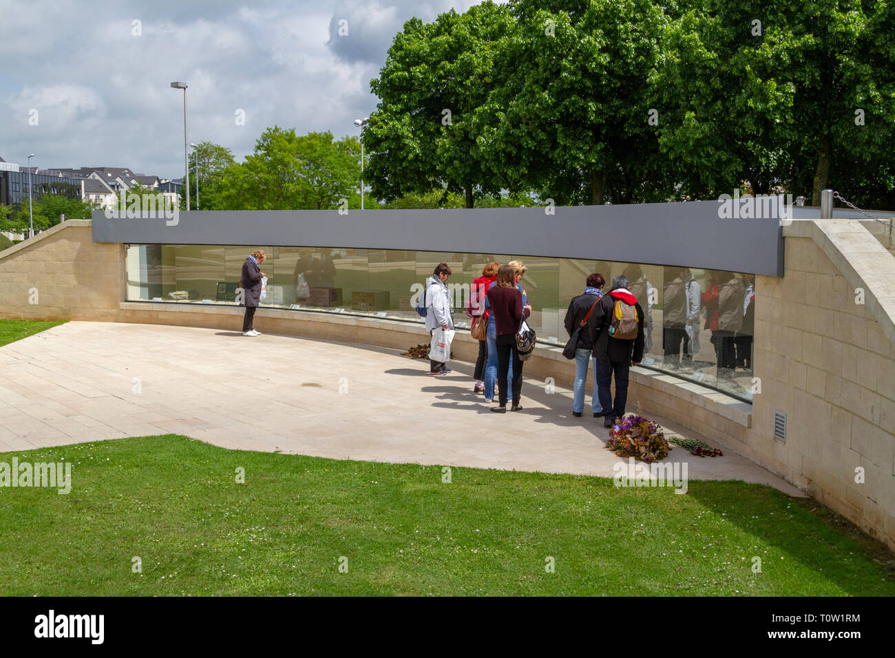 International Memorial Stones outside the Mémorial de Caen, Normandy, France. - Stock Image