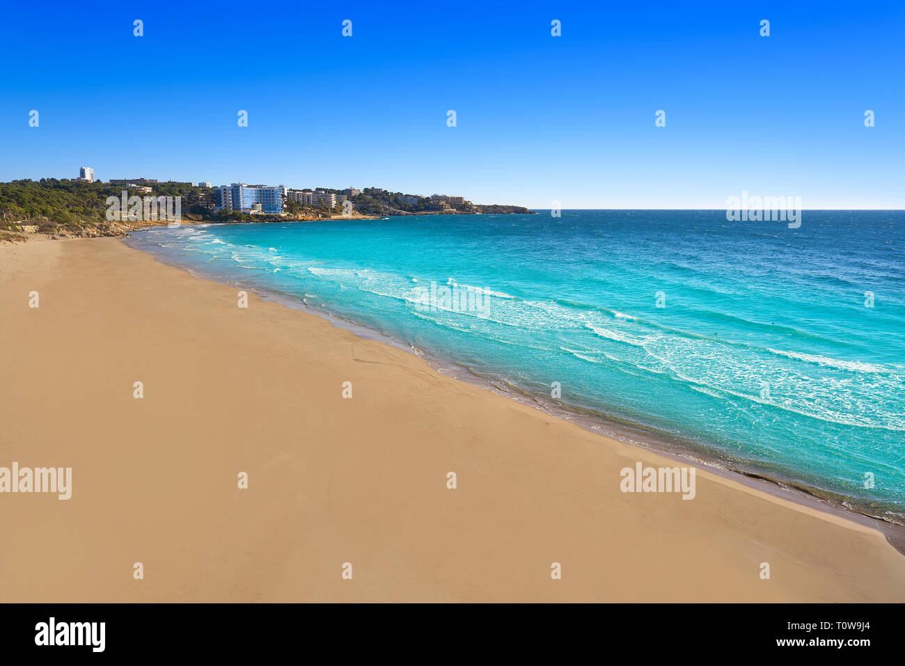 Platja Llarga Salou beach in Tarragona of Catalonia Stock Photo