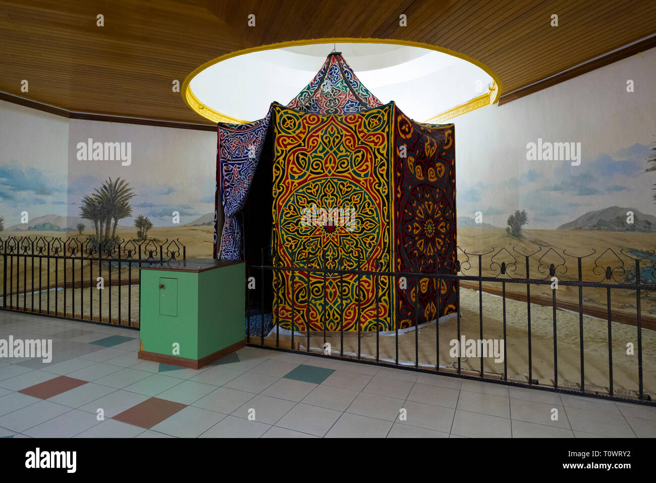 The Islamic Civilization Museum in Kota Kinabalu, Sabah, Borneo, Malaysia. An exhibit of a traditional tent. - Stock Image