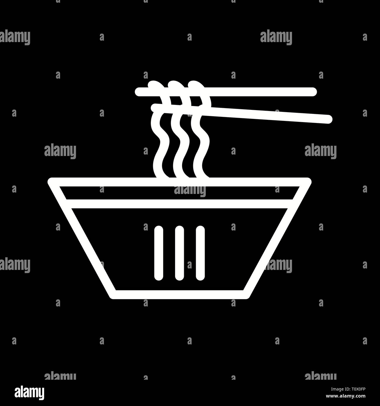 Illustration  Noodles Icon - Stock Image