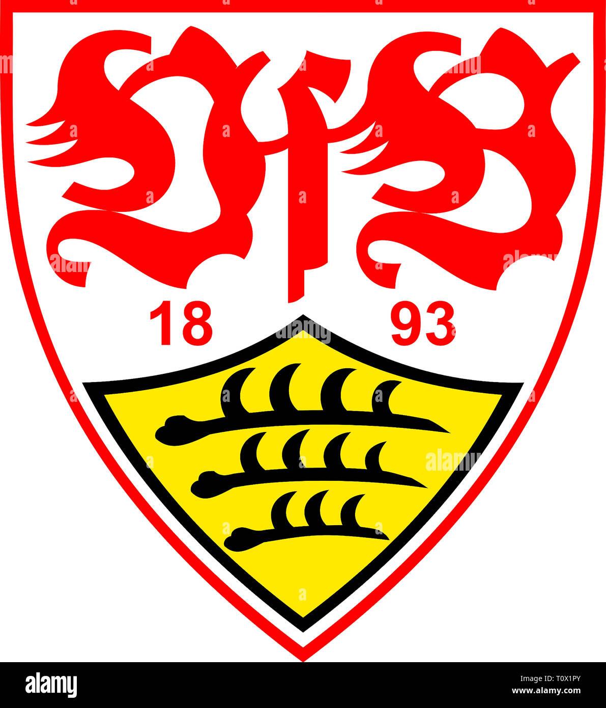 Logo of German football team VfB Stuttgart - Germany. - Stock Image