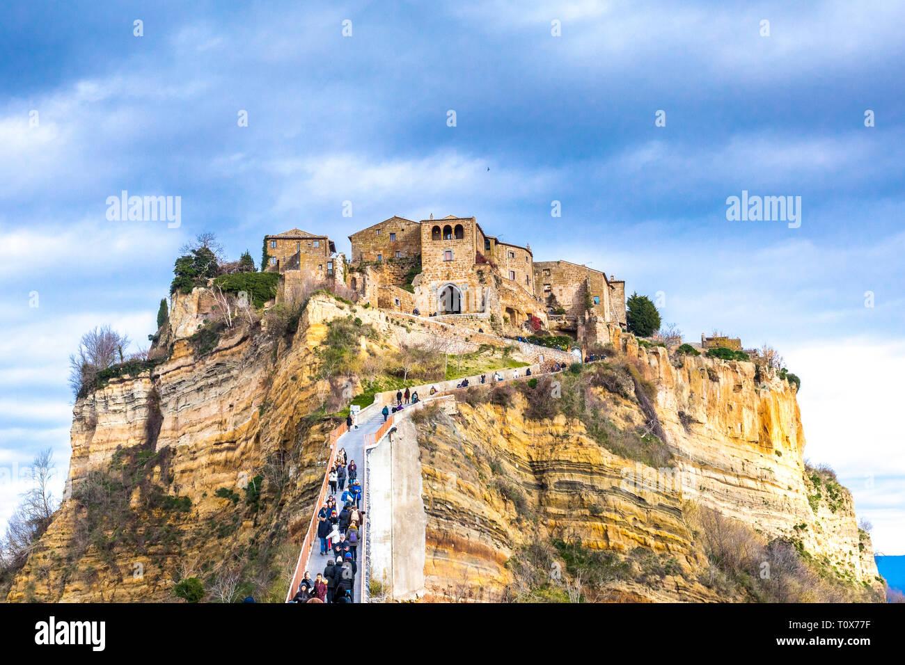 Civita Di Bagnoregio Viterbo Lazio Italy The Dying City