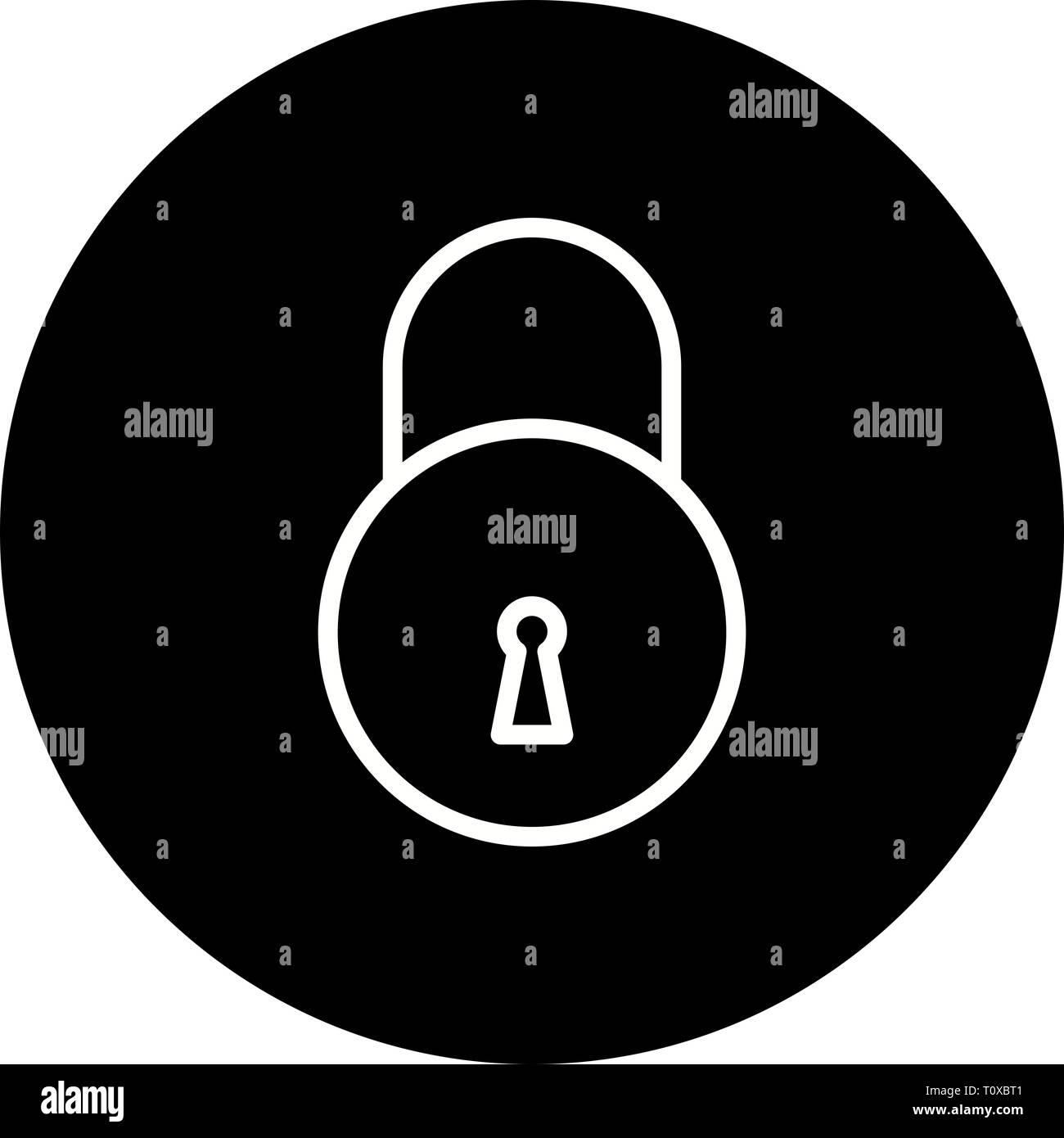 Illustration Lock Icon - Stock Image
