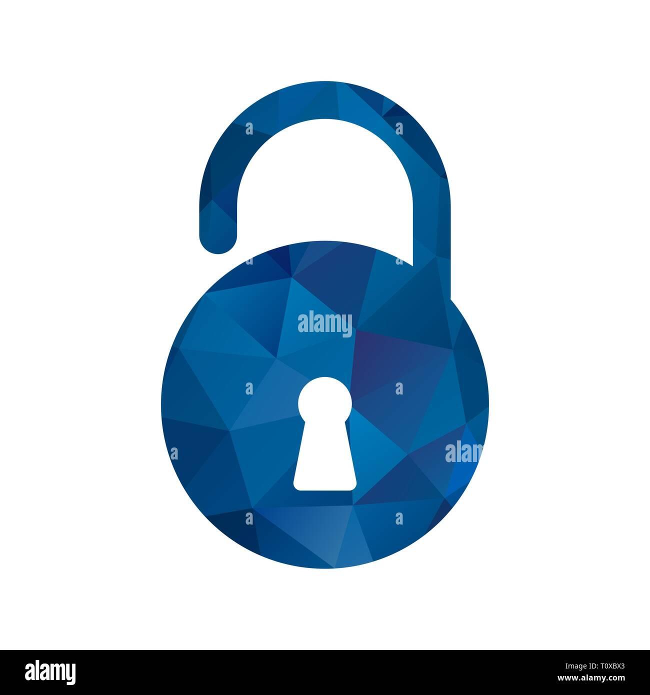 Illustration Unlock Icon Stock Photo