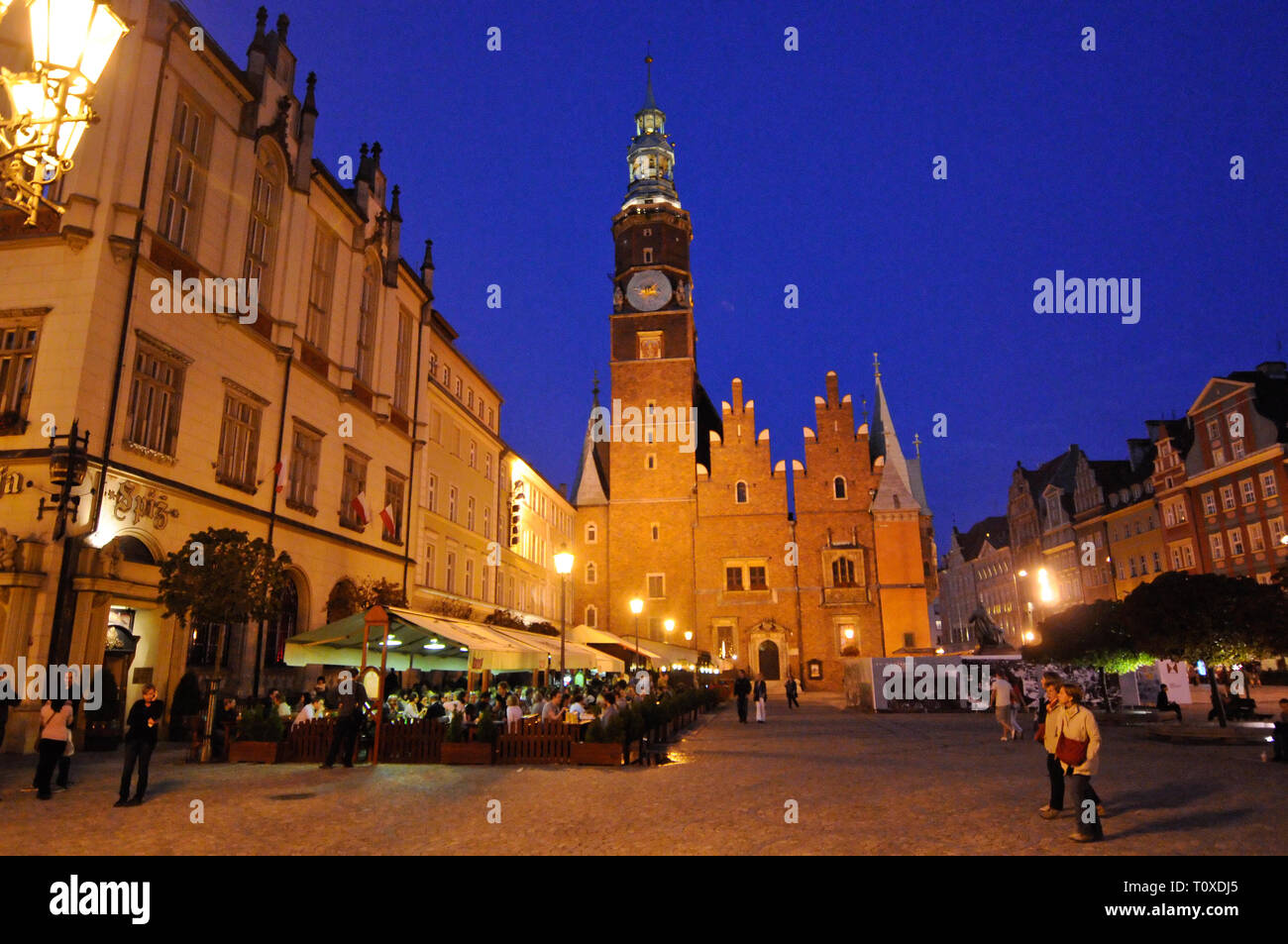 Wroclaw Old Town Hall (west elevation), Poland Stock Photo