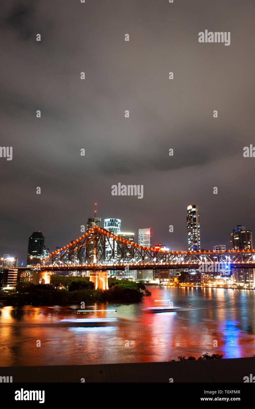 Brisbane City skyline, Australia - Stock Image