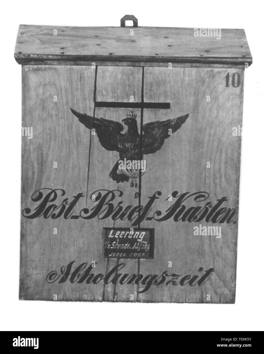 mail, letter boxes, letter-box of the Royal Prussian mail, 1850 - 1860, Additional-Rights-Clearance-Info-Not-Available Stock Photo