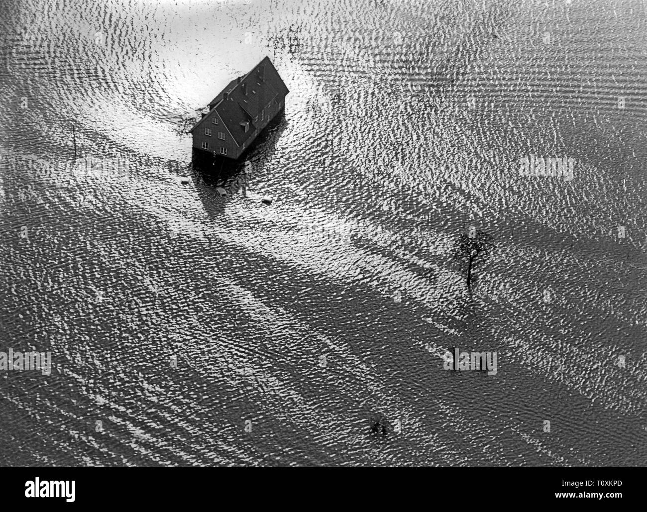 disasters, floods, North Sea flood, 16./17.2.1962, Additional-Rights-Clearance-Info-Not-Available - Stock Image