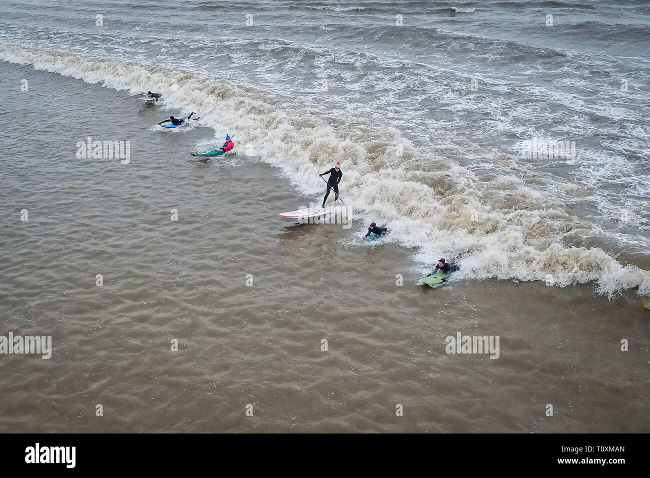Surfing The Severn Bore Stock Photos Surfing The Severn