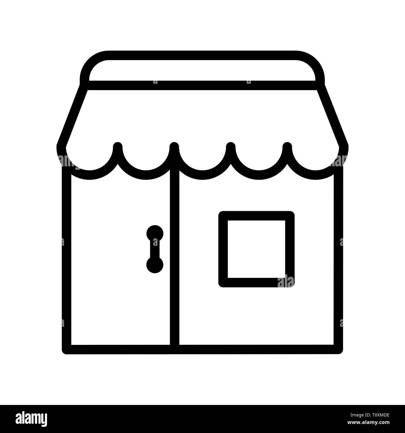 Illustration Shop Icon Stock Photo