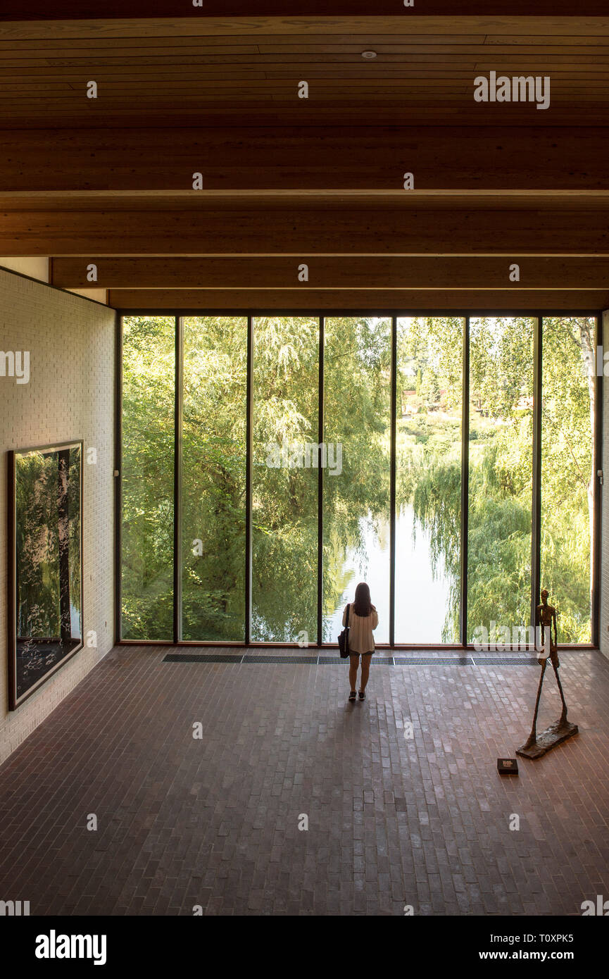 Denmark, Humlebaek, Louisiana Museum of Modern Art - Stock Image