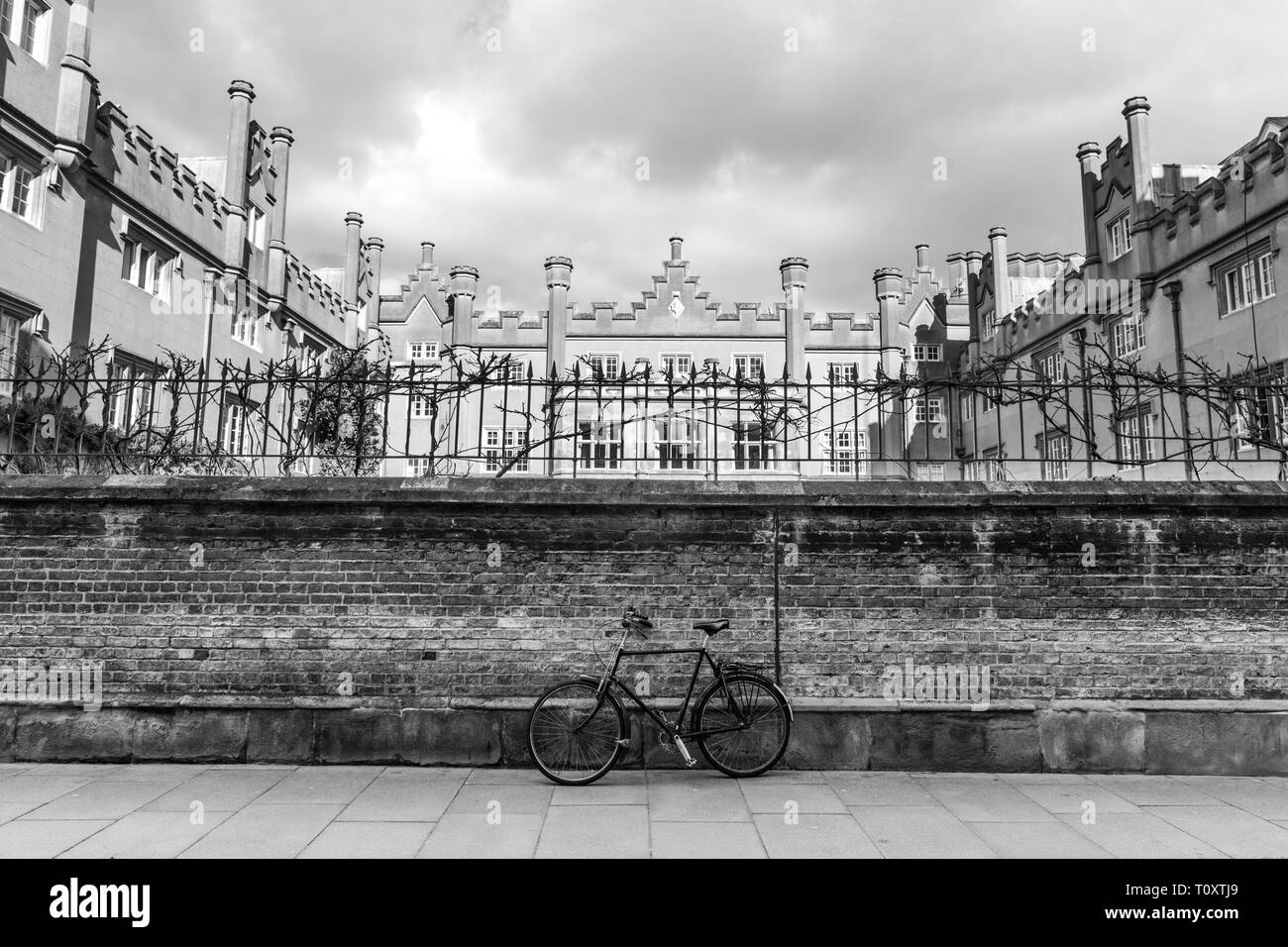 Cambridge, UK - March 14 2019: Sidney Sussex College which is a member of the Univarsity of Cambridge, Cambridge, England. - Stock Image