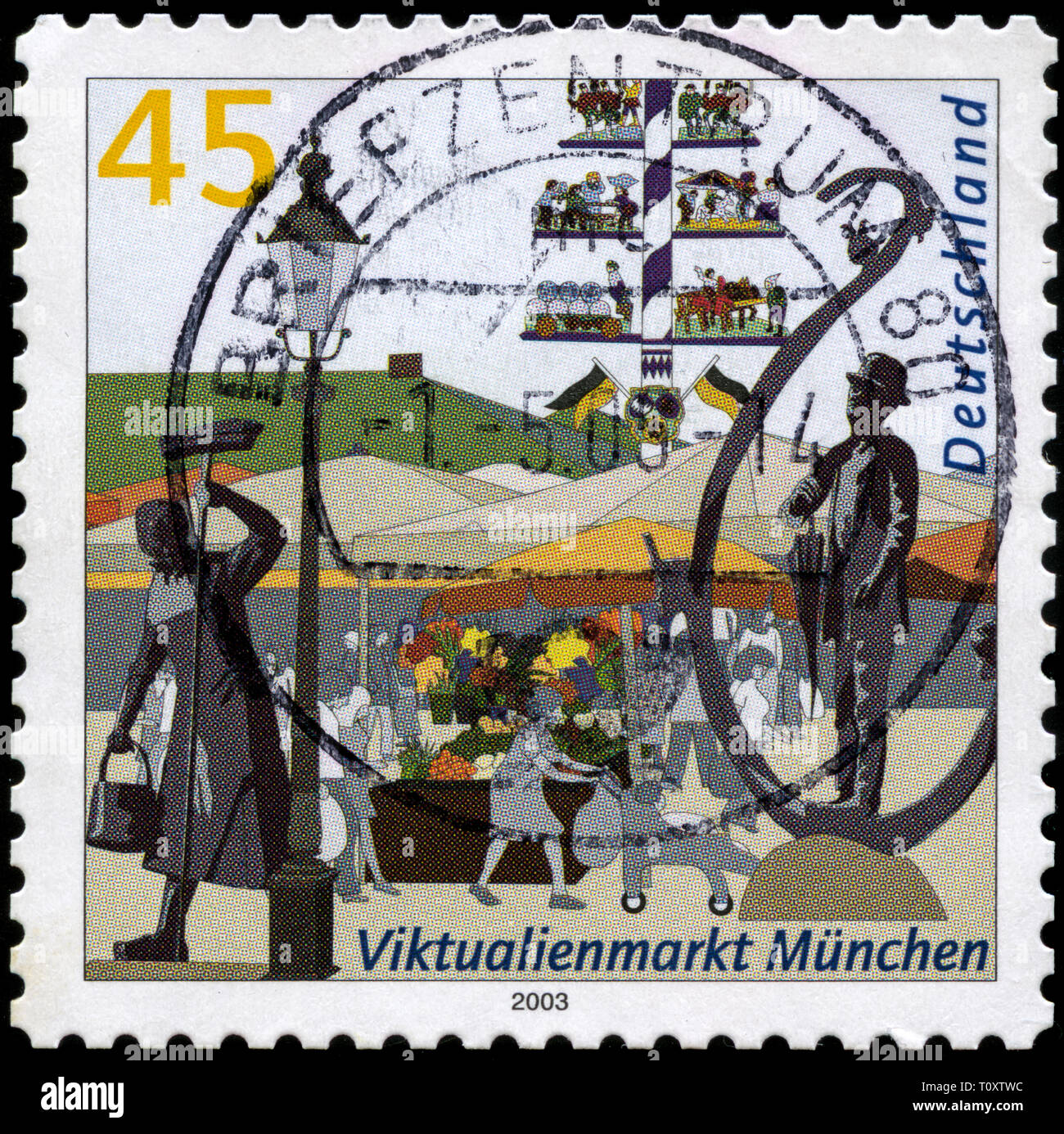 Postage stamp from the Federal Republic of Germany in the Pictures of German cities series issued in 2004 Stock Photo