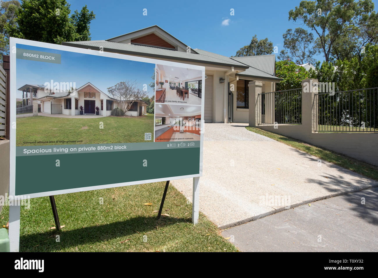 Residential real estate - house for sale, Queensland, Australia - Stock Image