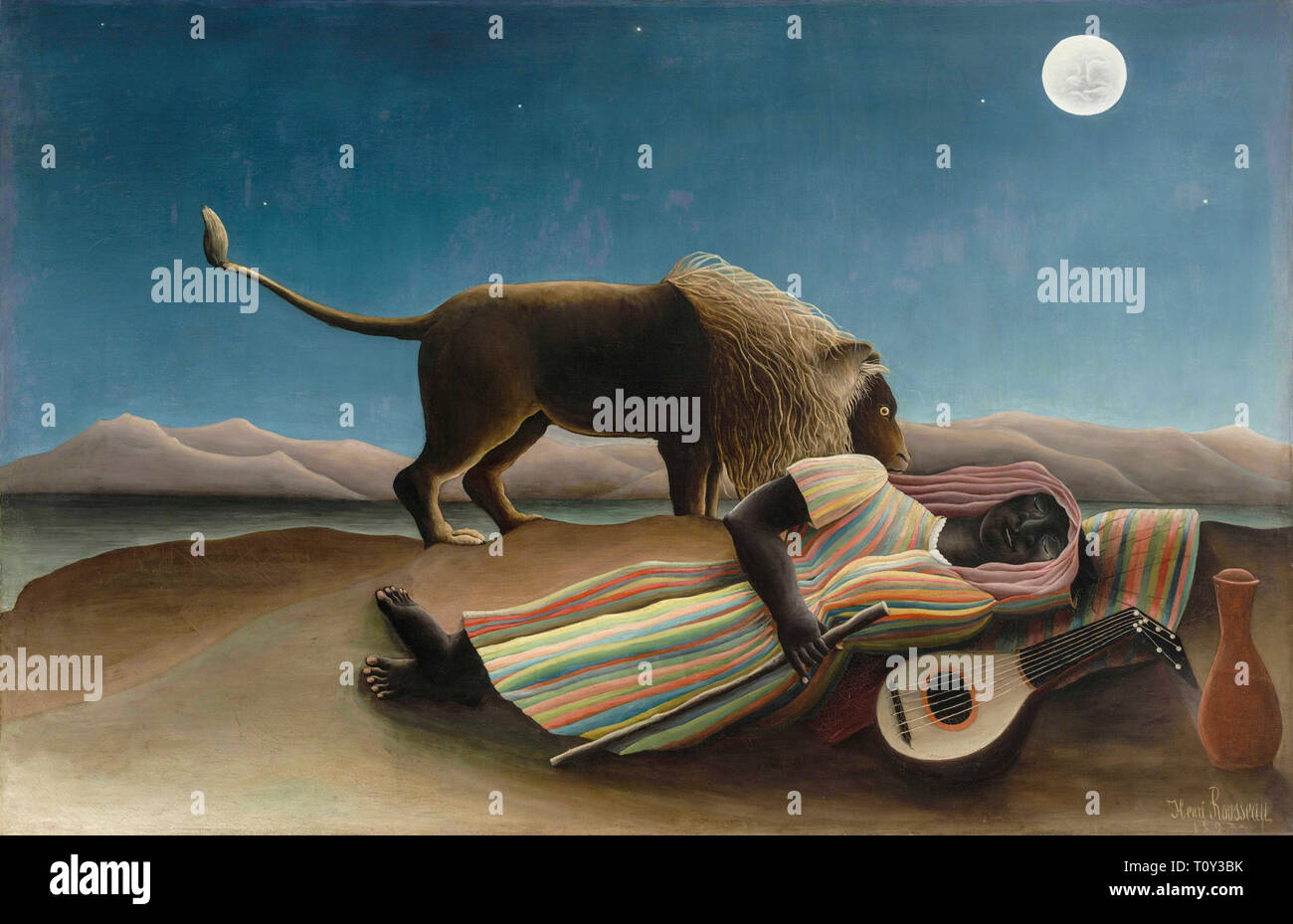 Henri Rousseau, The Sleeping Gypsy, painting, 1897 - Stock Image