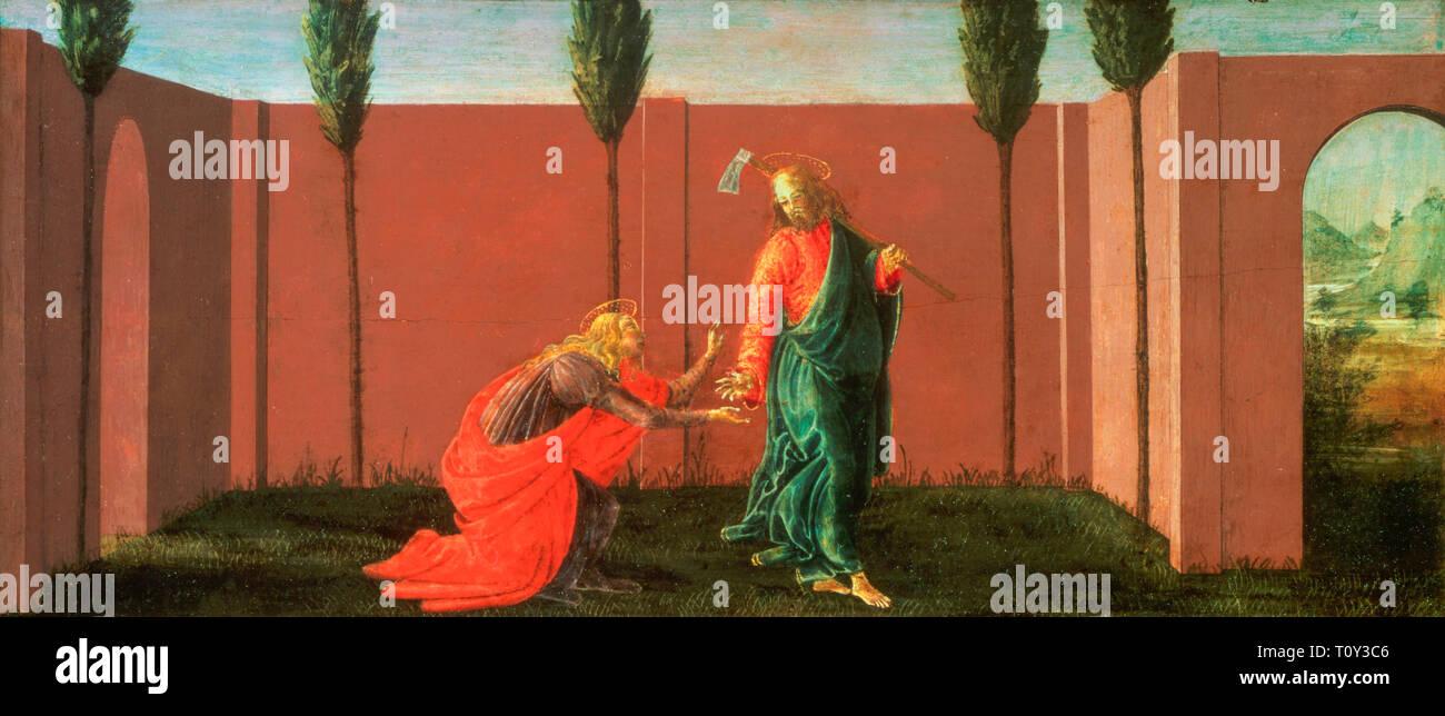 Sandro Botticelli, Noli Me Tangere, painting c. 1484 - Stock Image