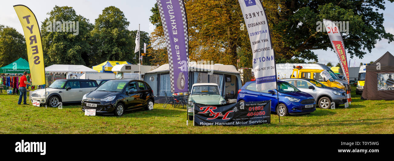 Roger Hannant Motor Services stand at the 2018 Aylsham
