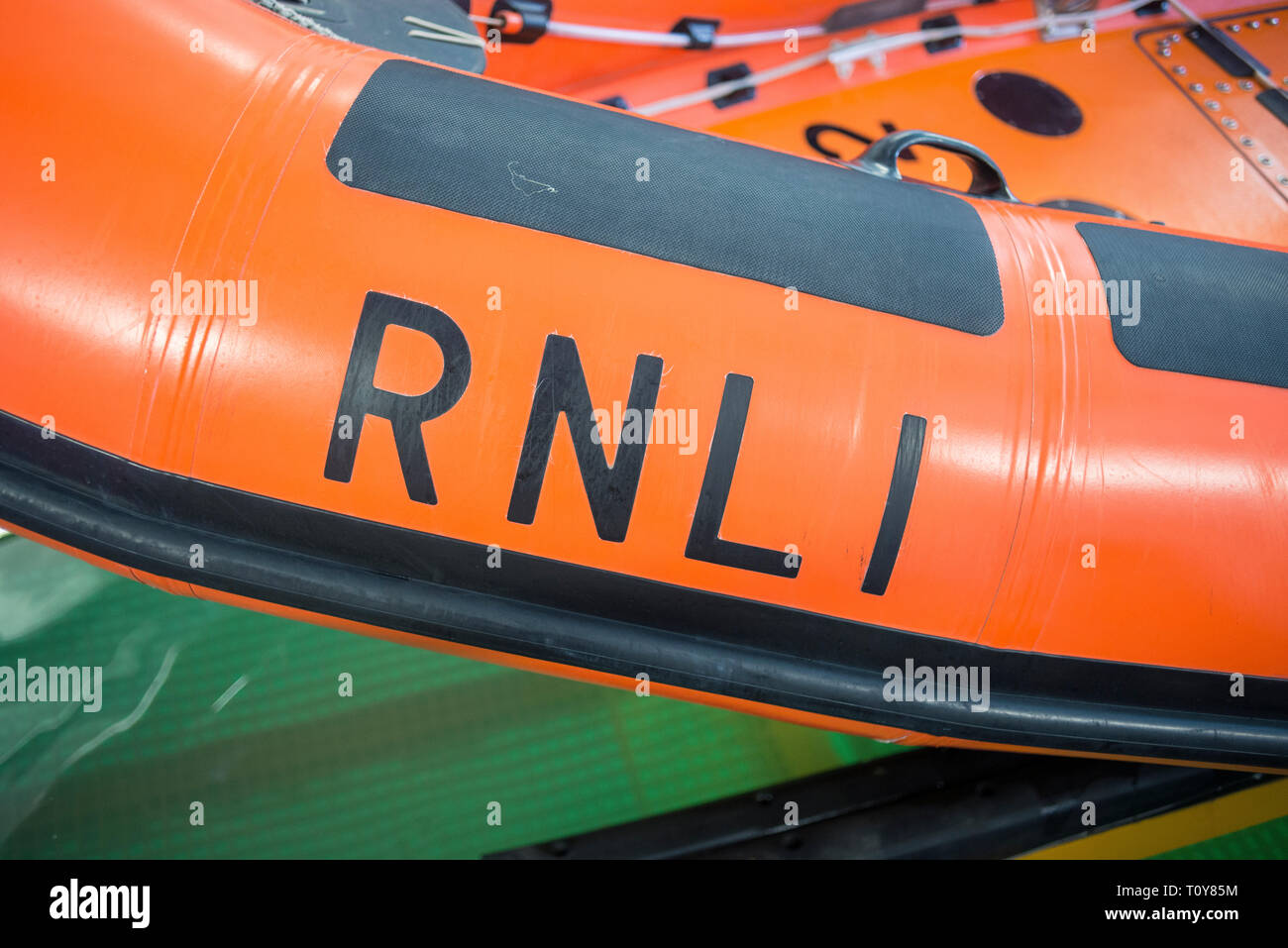 details and photos in and around the Brighton RNLI lifeboat station at Brighton Marina. - Stock Image