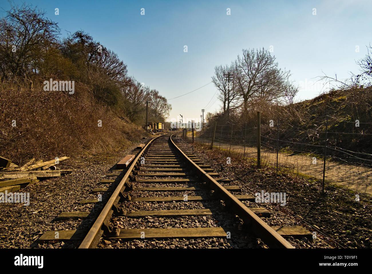 Brampton valley way Northamptonshire United Kingdom - Stock Image